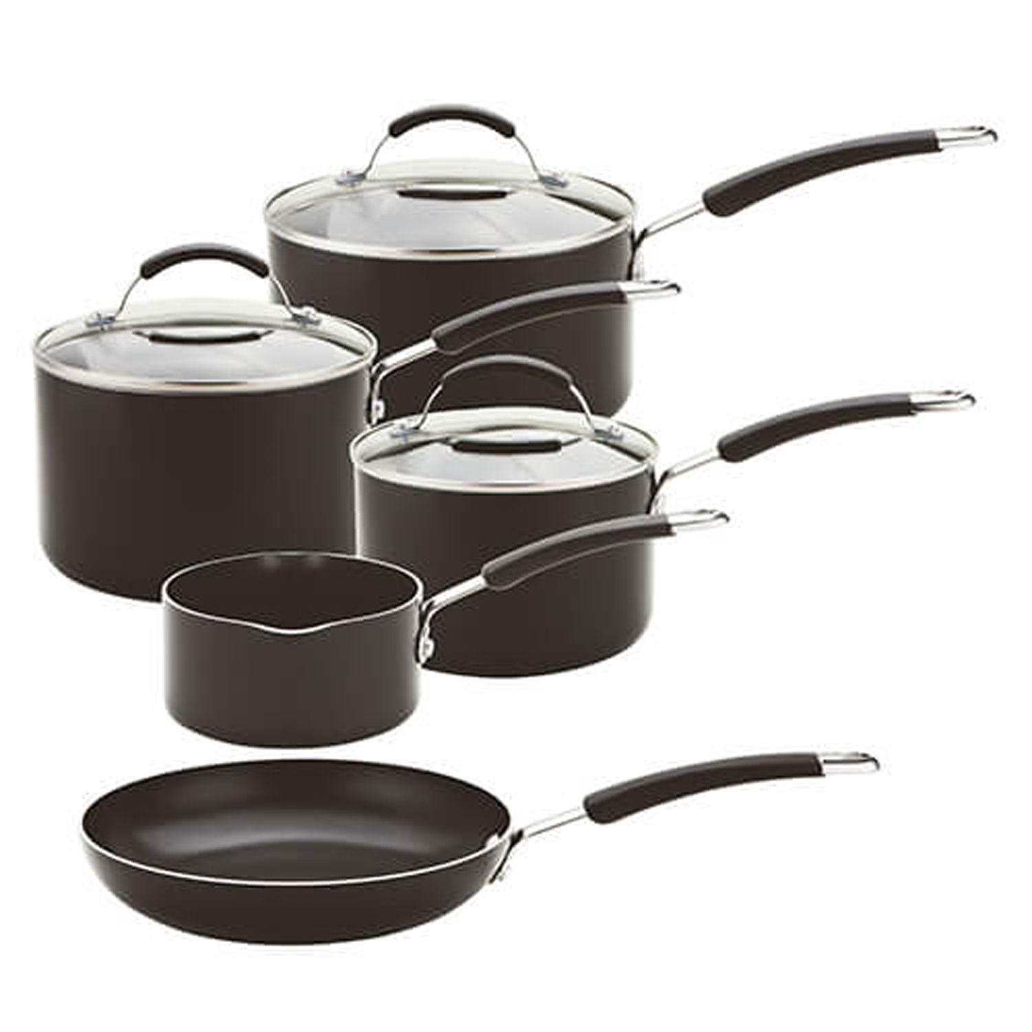 Image of Meyer 5 Piece Non-stick Induction Set, Black