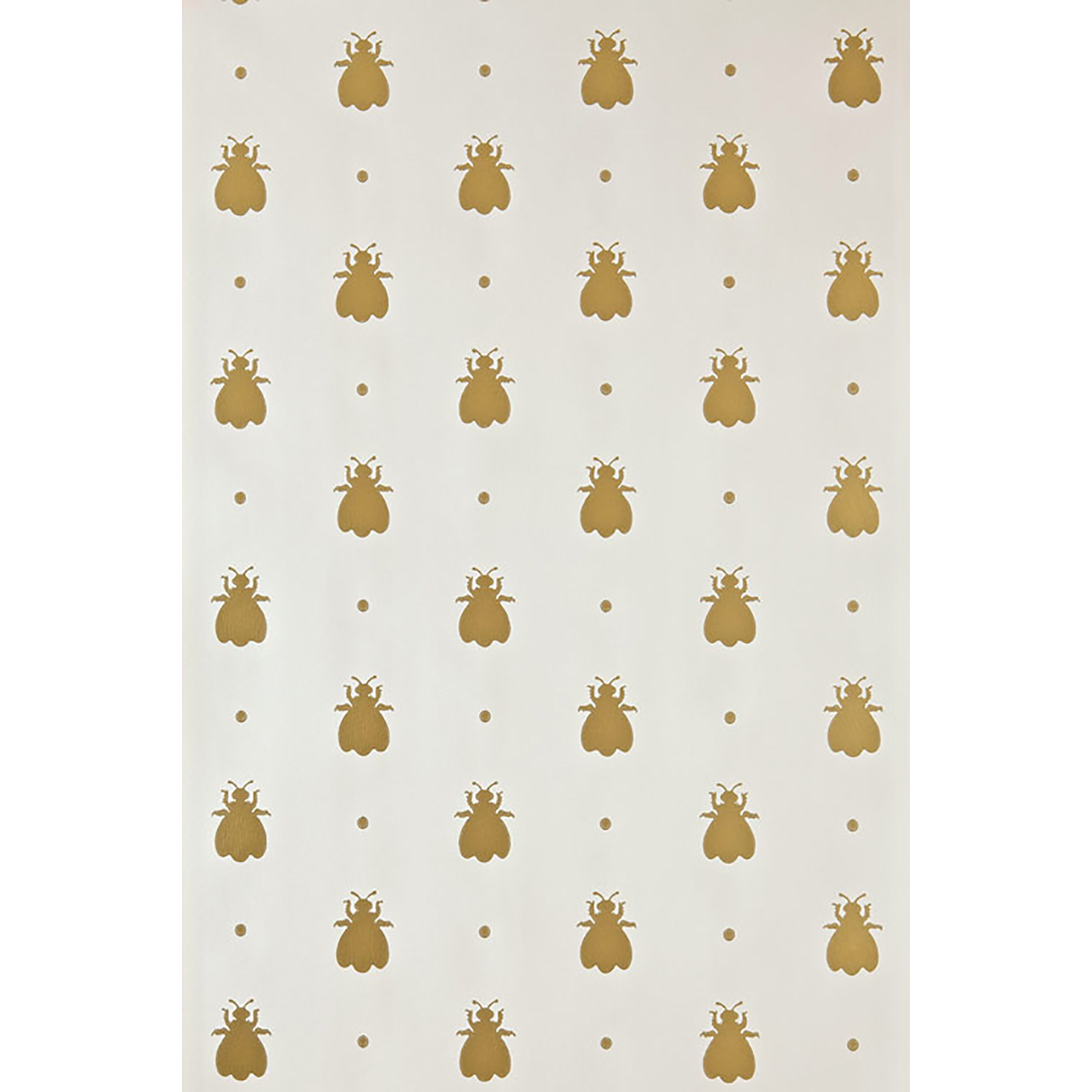 Image of Farrow And Ball Bumble Bee Wallpaper 5-07, Cream/ Gold