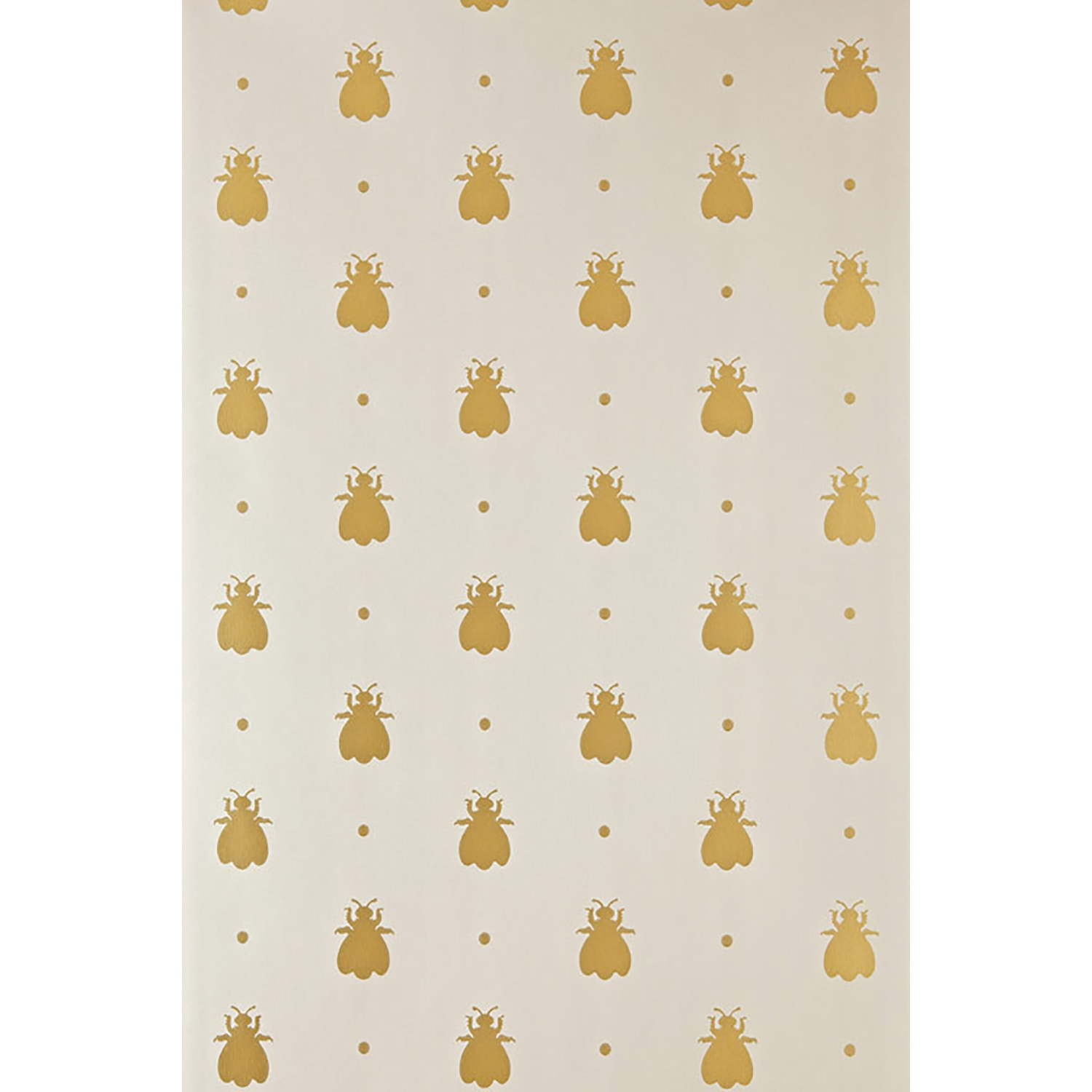 Image of Farrow And Ball Bumble Bee Wallpaper 5-25, Cream/ Gold