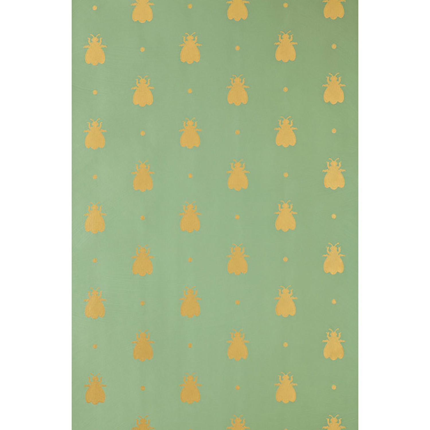 Image of Farrow And Ball Bumble Bee Wallpaper 5-47, Green/ Gold