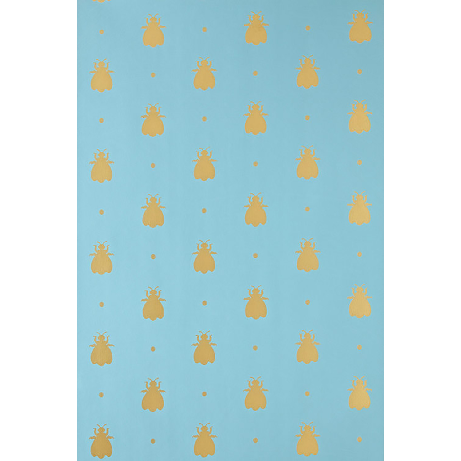 Image of Farrow And Ball Bumble Bee Wallpaper 5-55, Blue