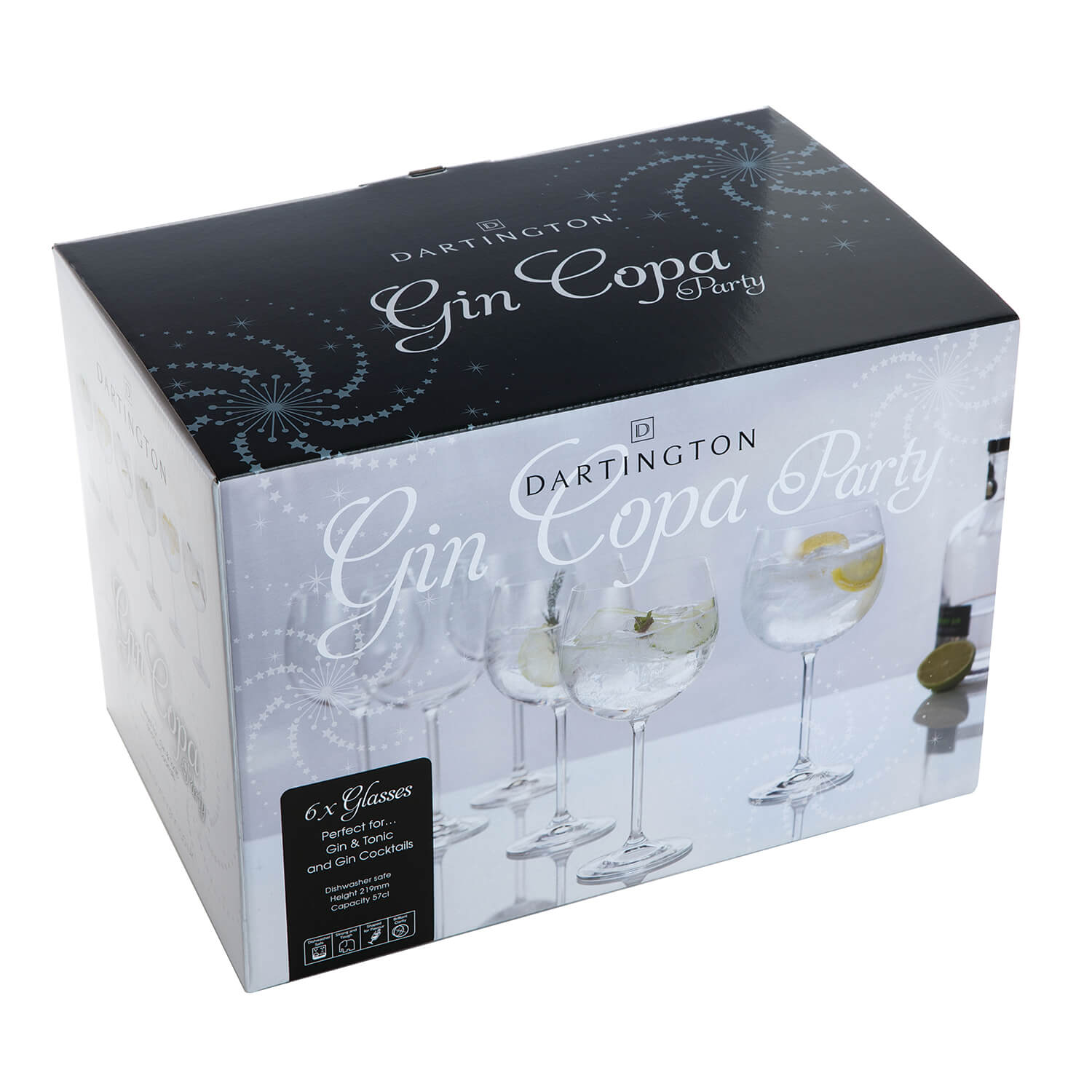 Image of Dartington Crystal Set of Six Gin Party Glasses