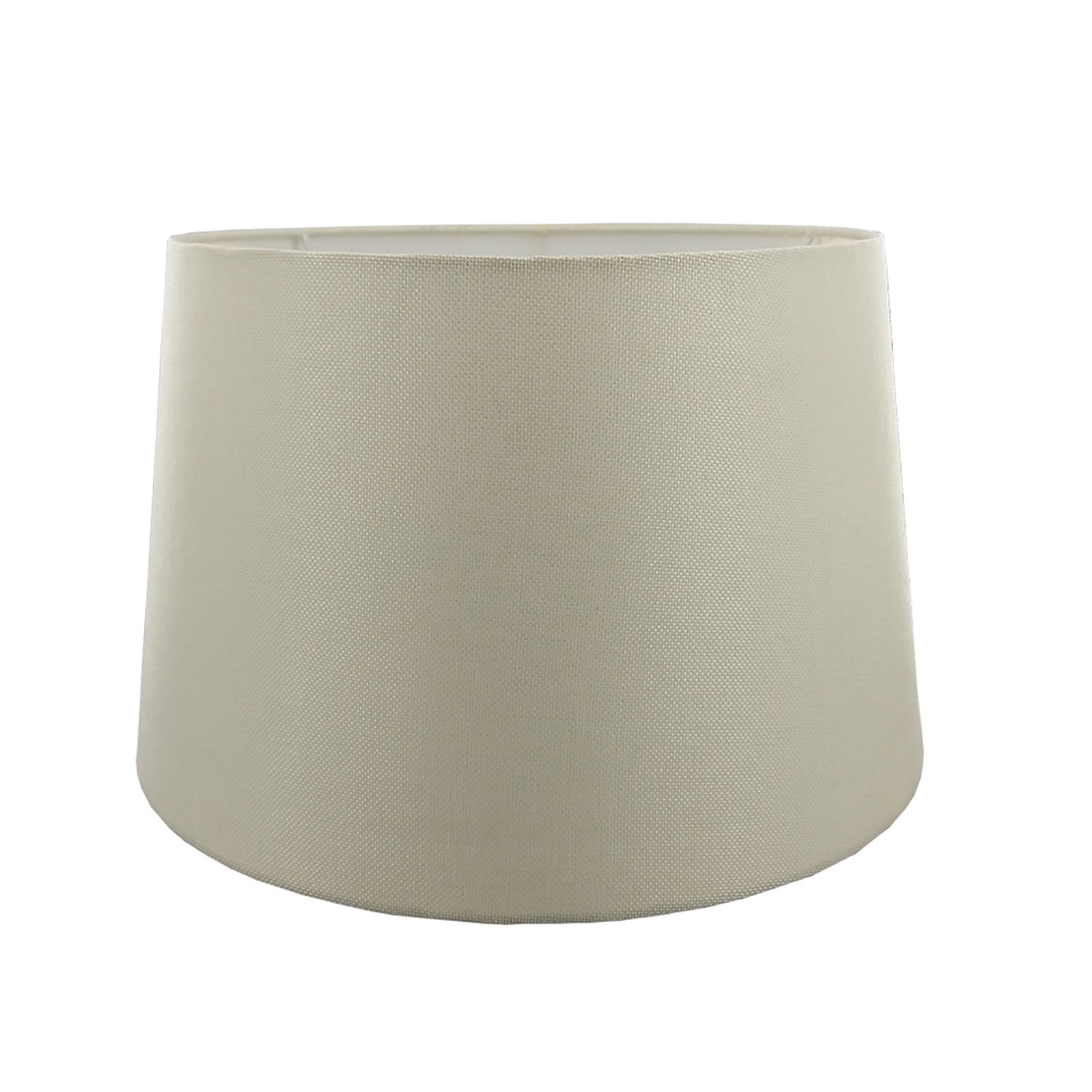 "14"" Carol Empire Linen Lamp Shade, Cream"