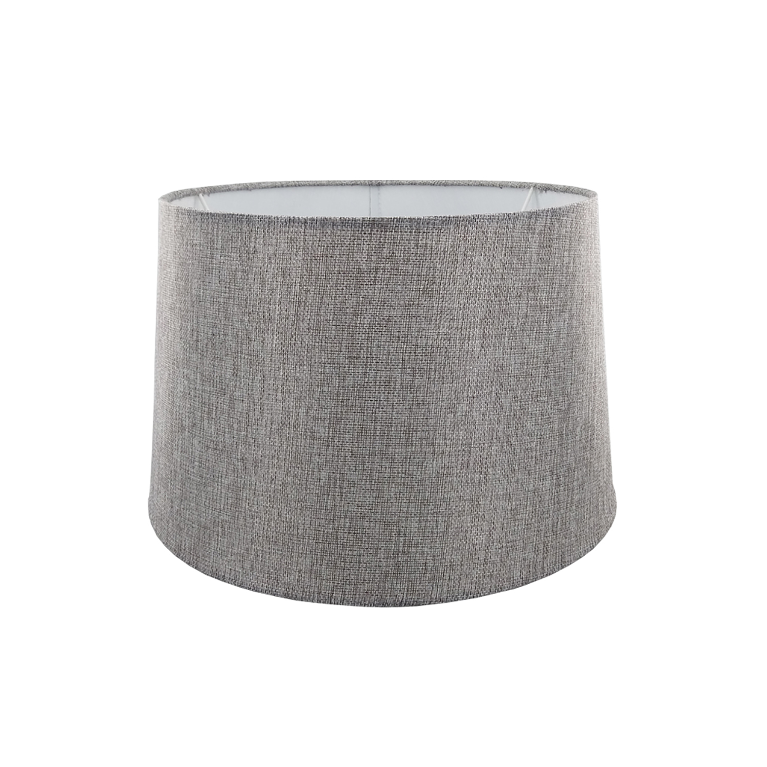 "14"" Carol Empire Linen Lamp Shade, Grey"