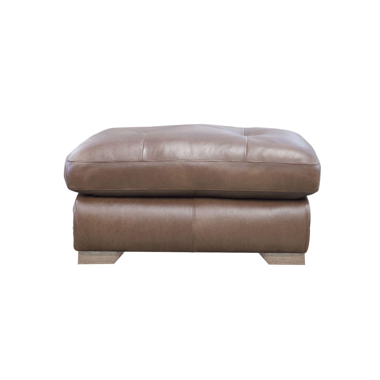 Image of Alexander & James Pemberley Leather Footstool
