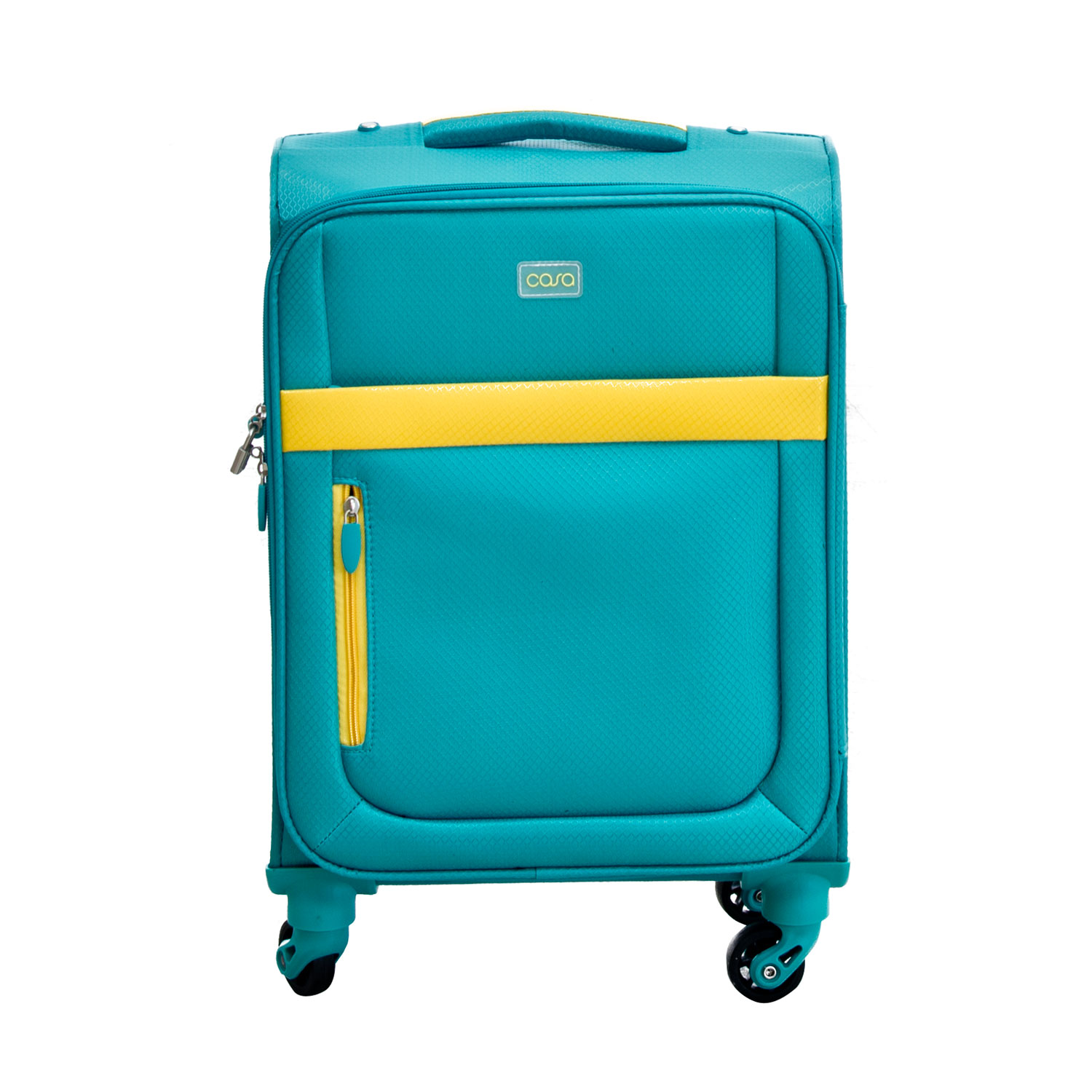 """Image of Casa Bright Xtra Lite Case, Teal And Yellow, 20"""""""