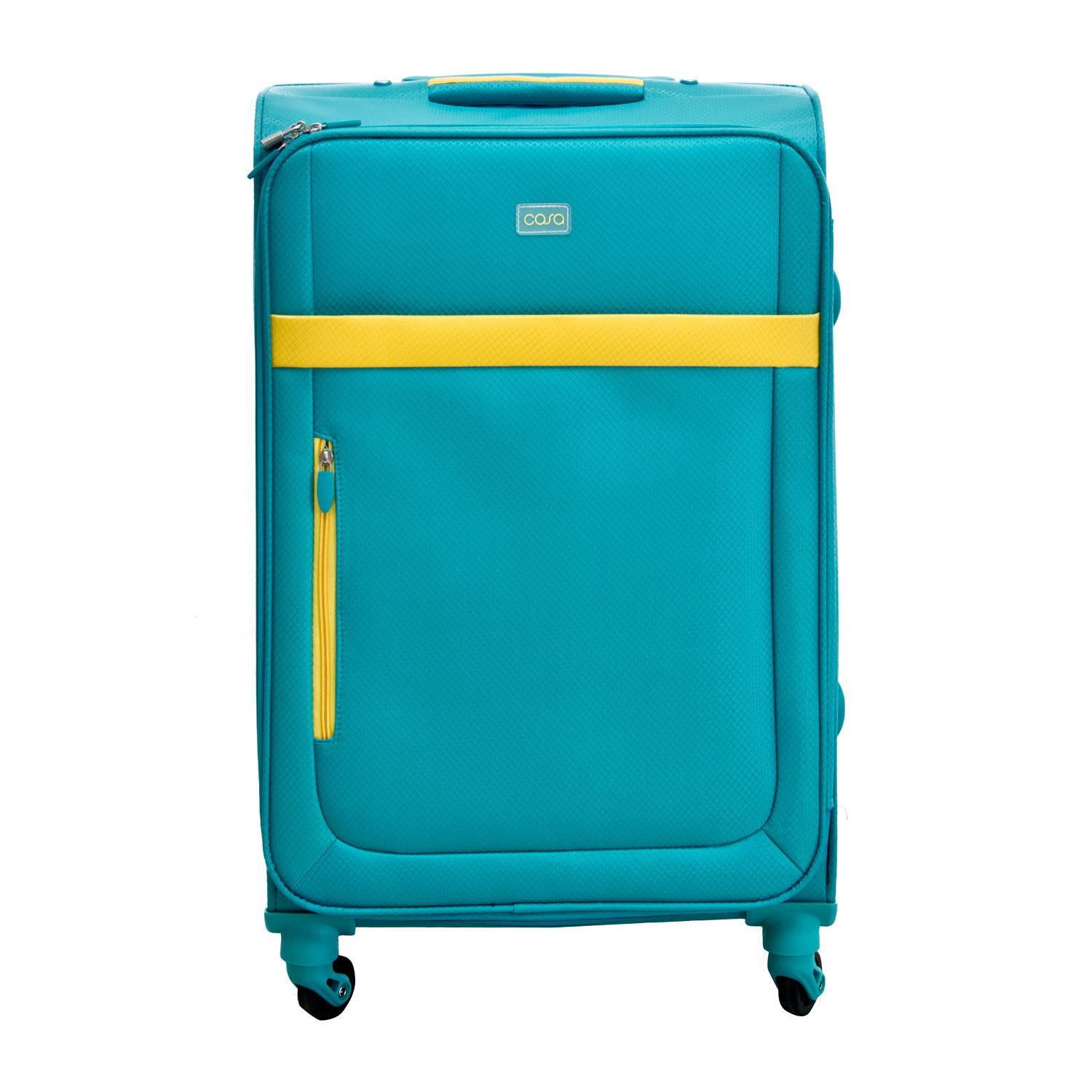 """Image of Casa Bright Xtra Lite Case, Teal And Yellow, 24"""""""