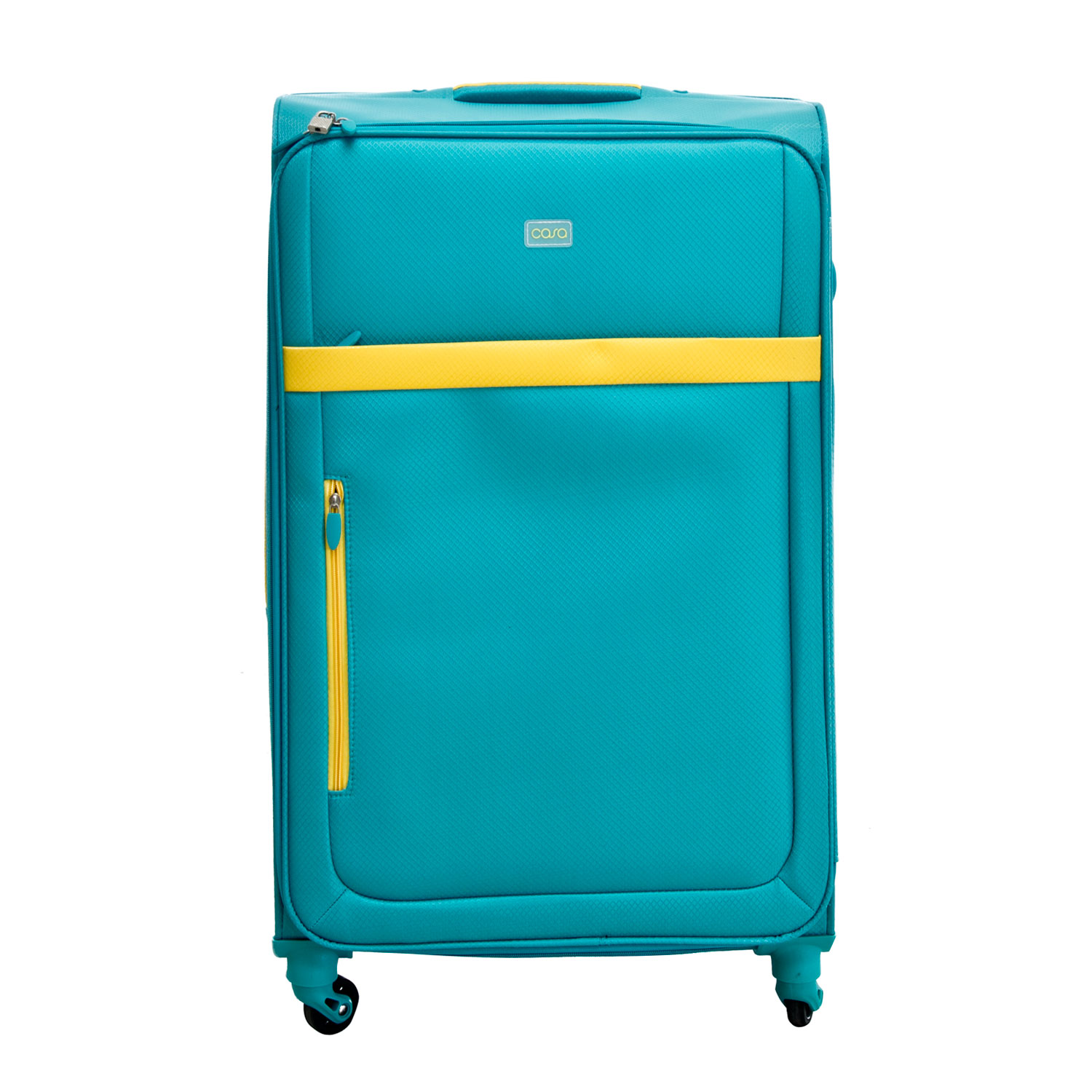 """Image of Casa Bright Xtra Lite Case, Teal And Yellow, 28"""""""