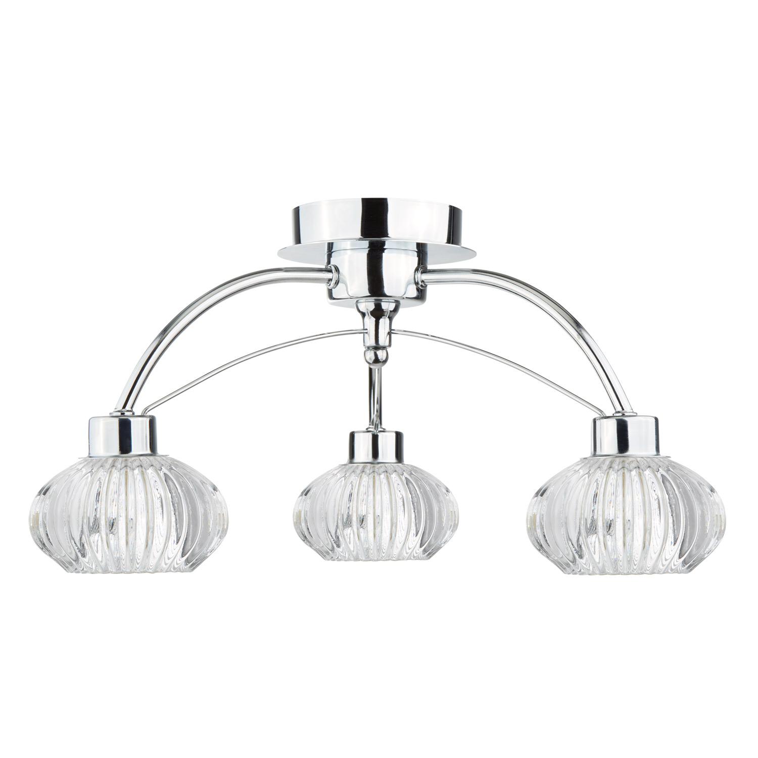 3 Light Ceiling Pendant with Shades