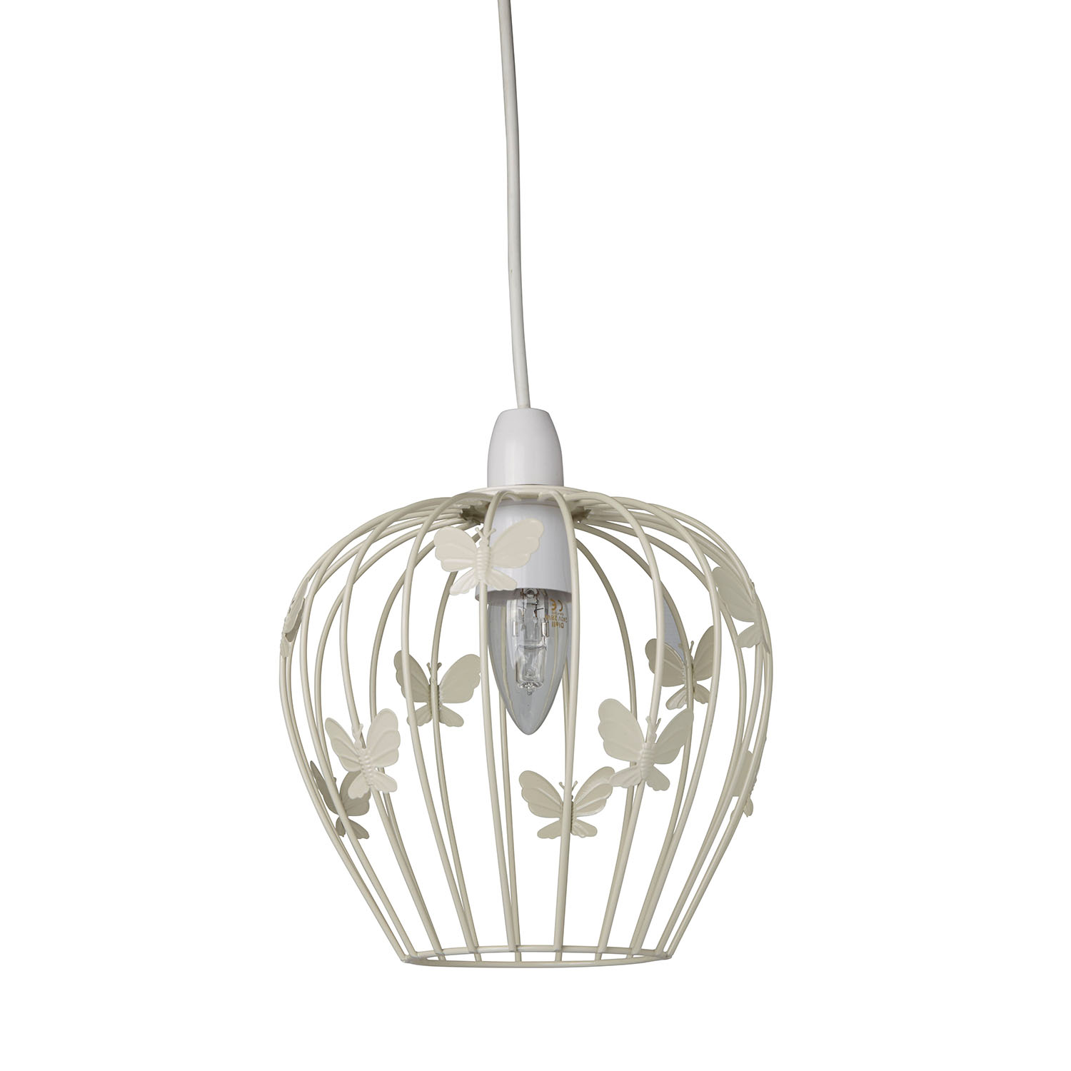 Image of Casa Butterfly Ceiling Lamp Shade, Cream