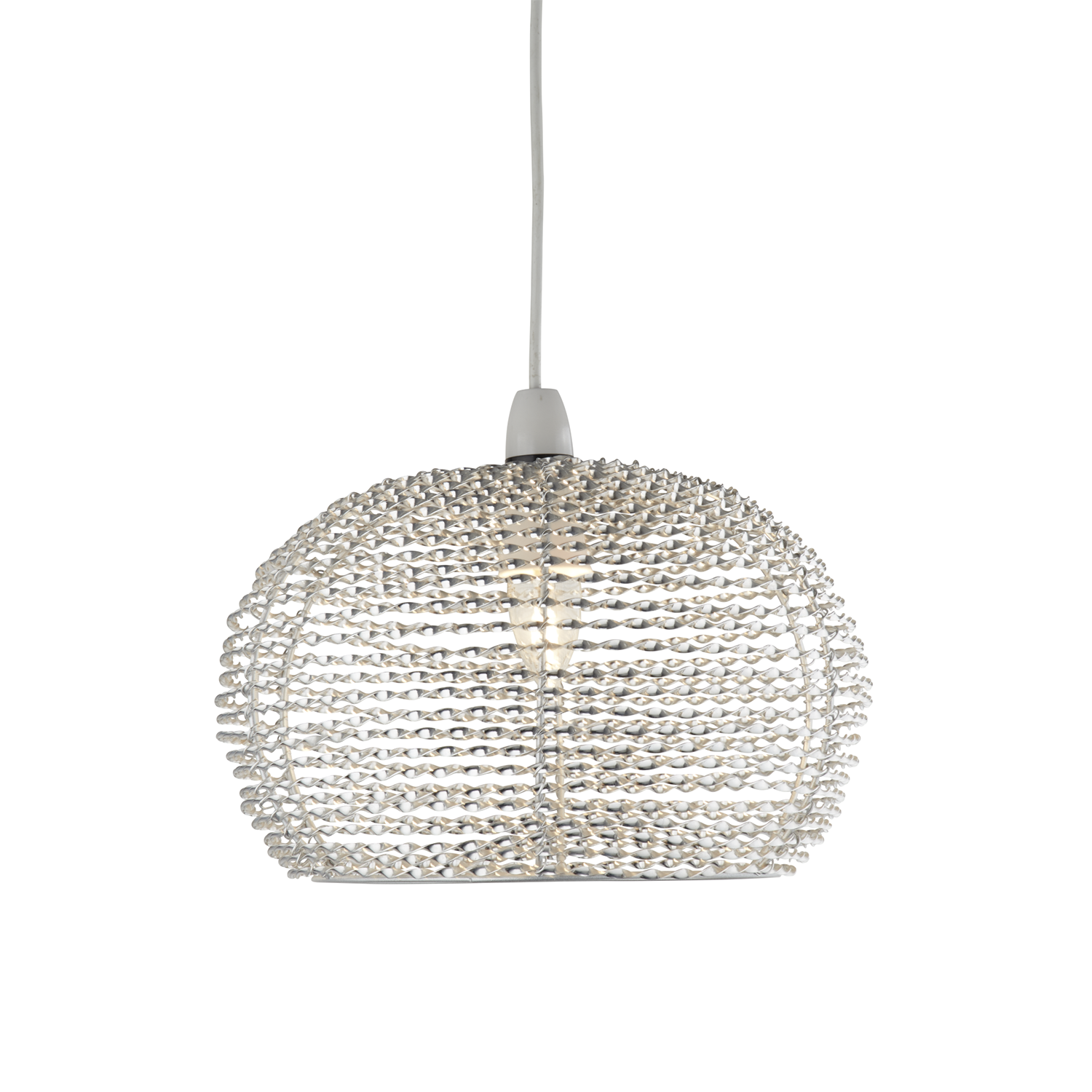 Image of Casa Large Ceiling Lamp Shade, Silver
