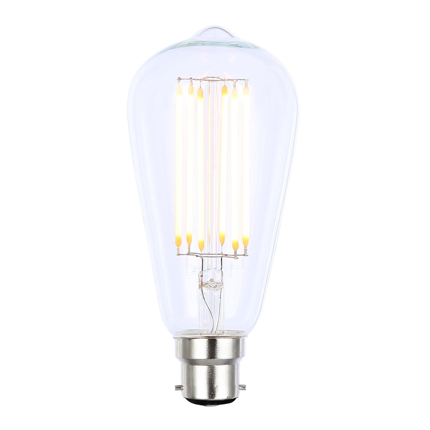 Image of Casa 6W LED Cage Bc Filament Light Bulb, Clear
