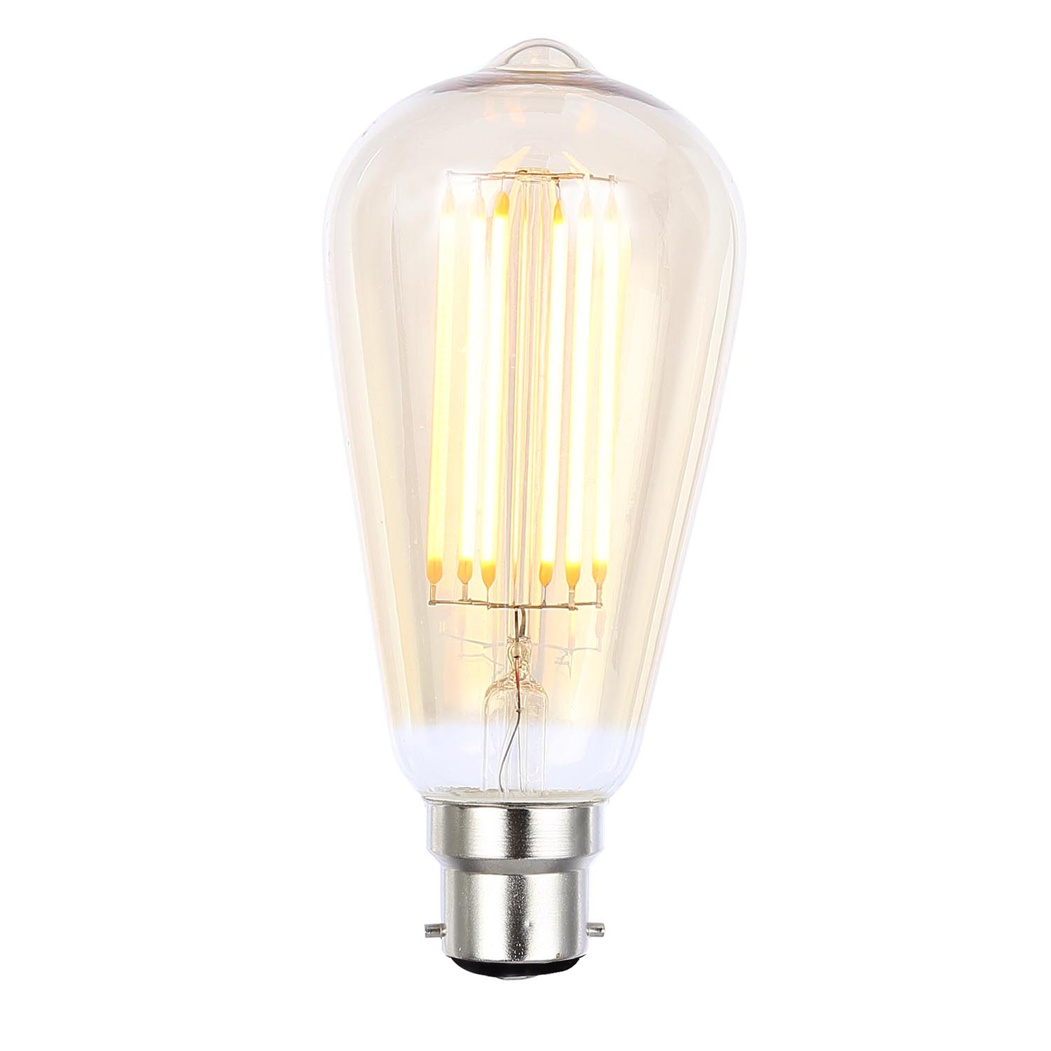 Image of Casa 6W LED Cage Bc Filament Light Bulb, Tinted