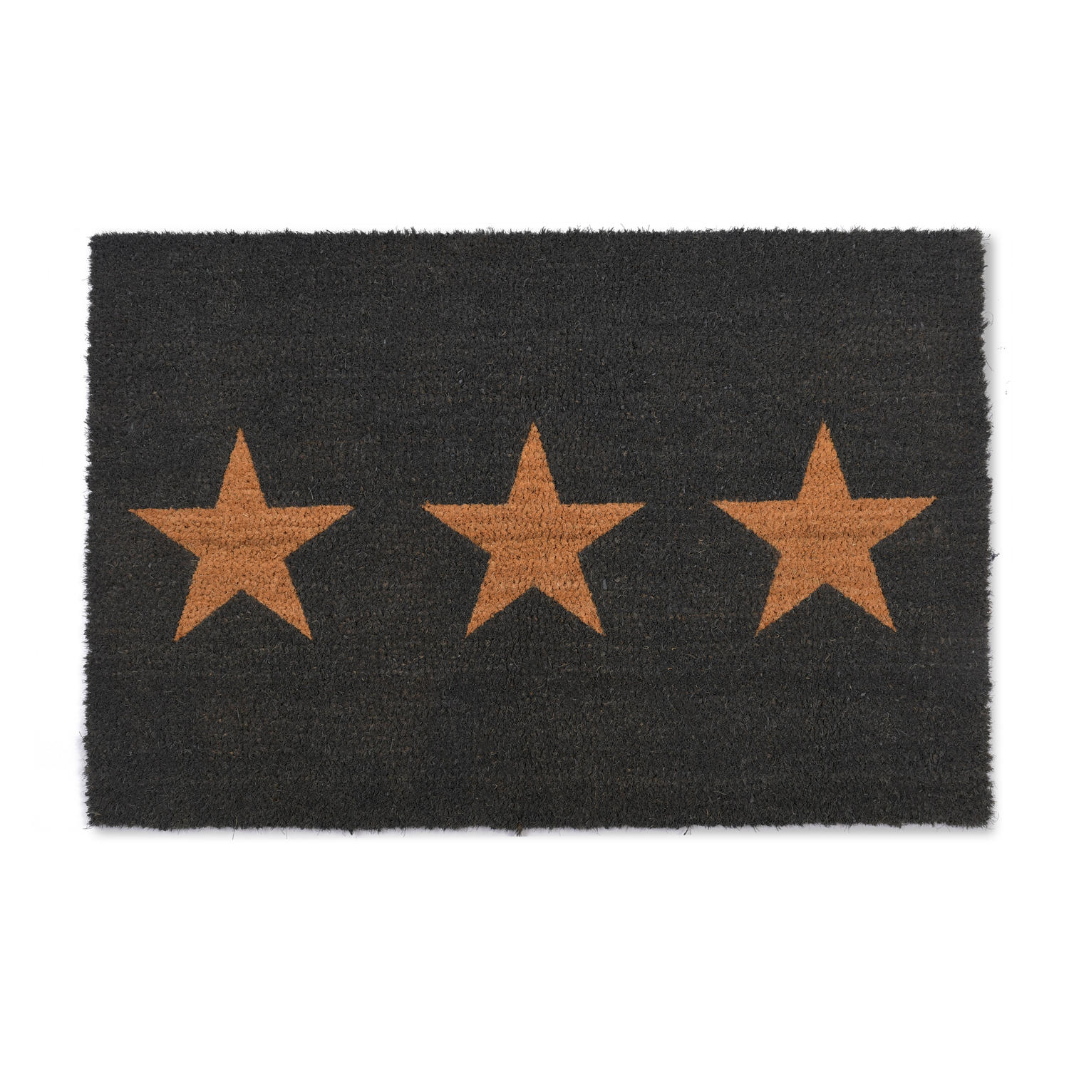 Image of Garden Trading Large Doormat 3 Stars, Charcoal