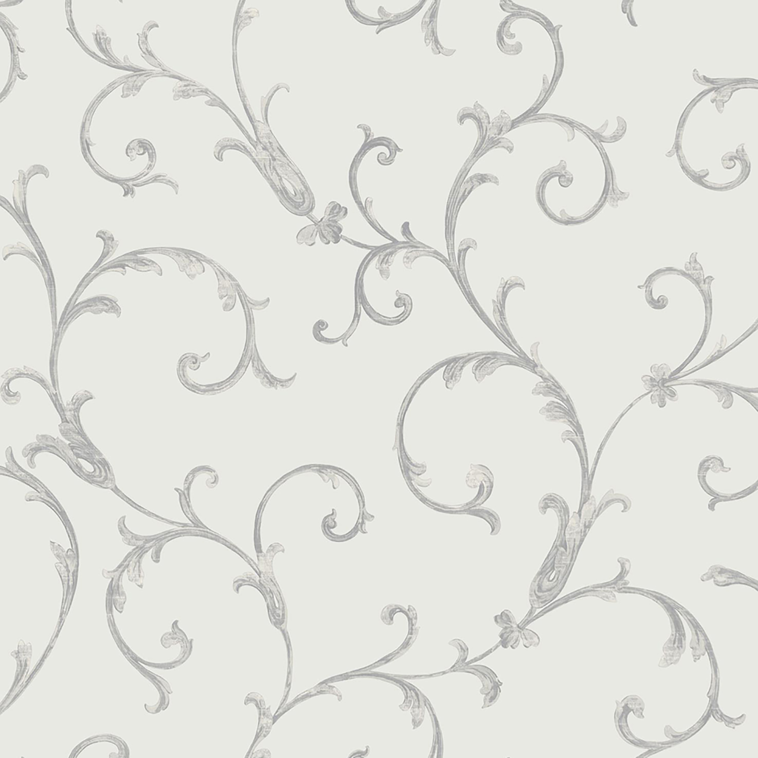 Image of Muriva Acanthus Scroll Wallpaper, Silver