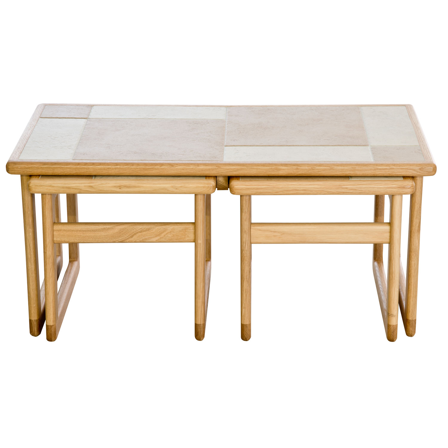 Image of Casa Amber Tile Top Lounge Nest Table