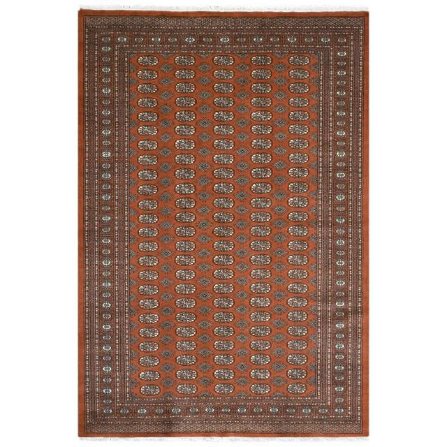 Image of Frith Rugs Bok055 Bokhara Design Rug, 183cm X 122cm, Rust