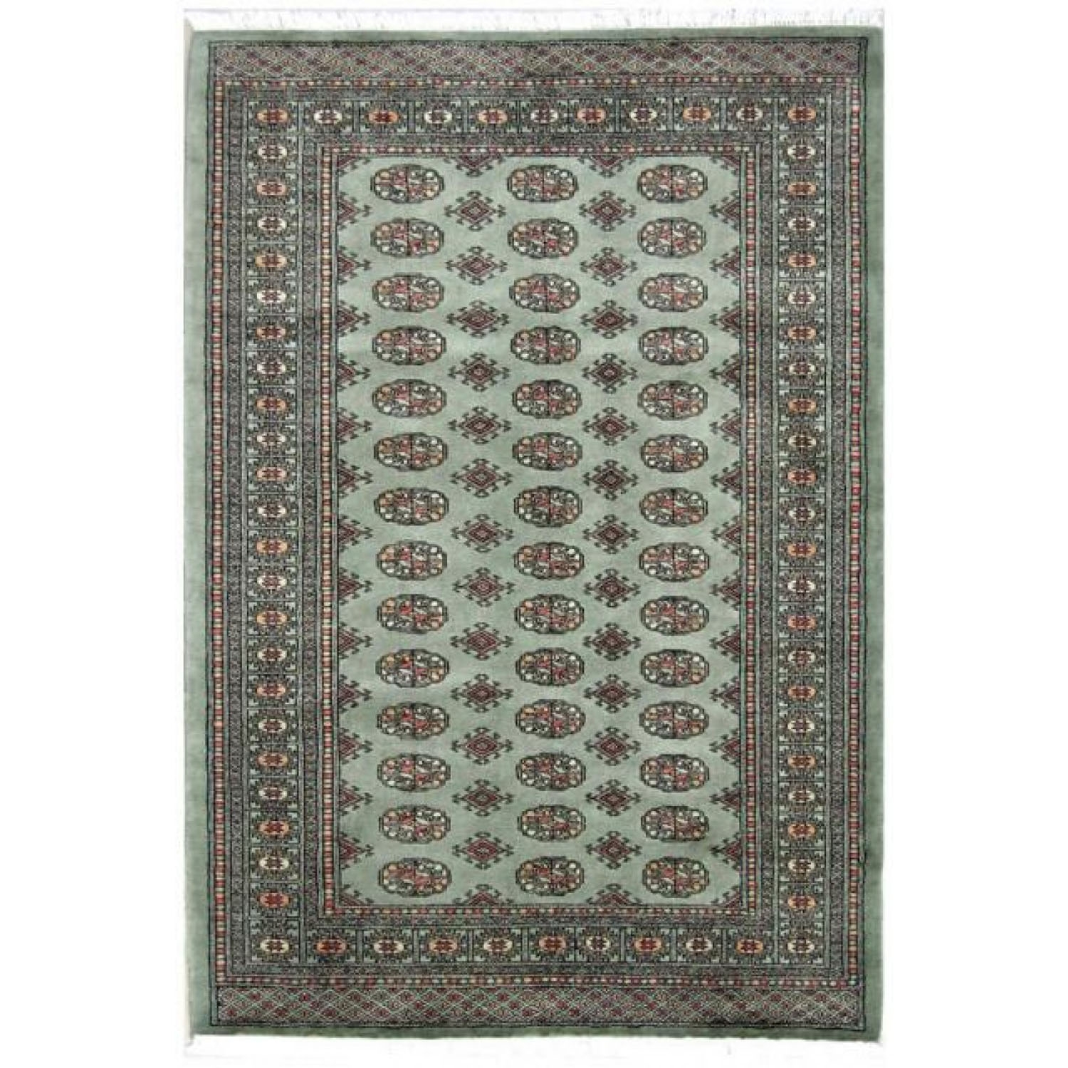 Image of Frith Rugs BOK042 Bokhara Design Rug, 244cm x 152cm, Green