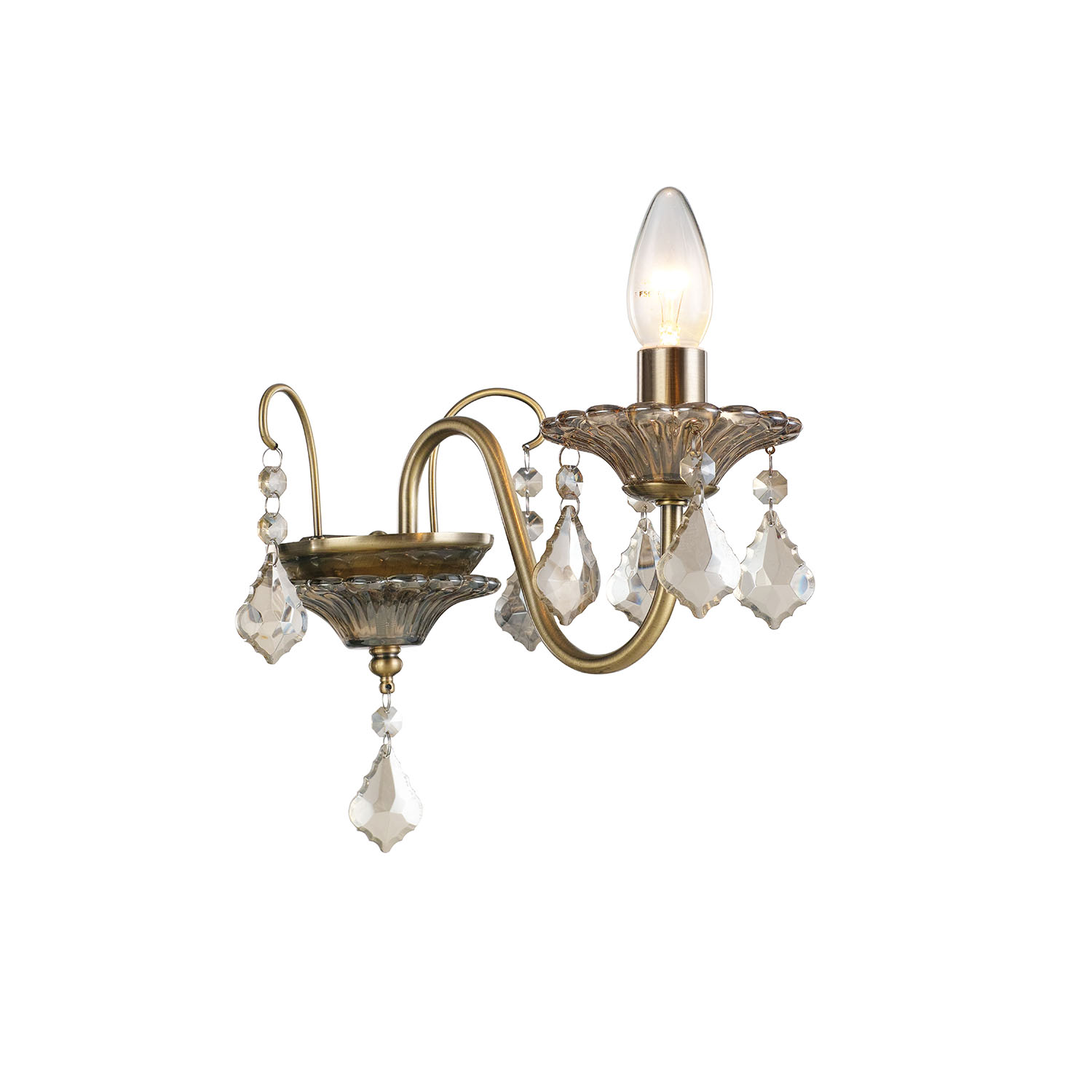 Image of Casa Taylor 2 Light Wall Fitting, Antique Brass