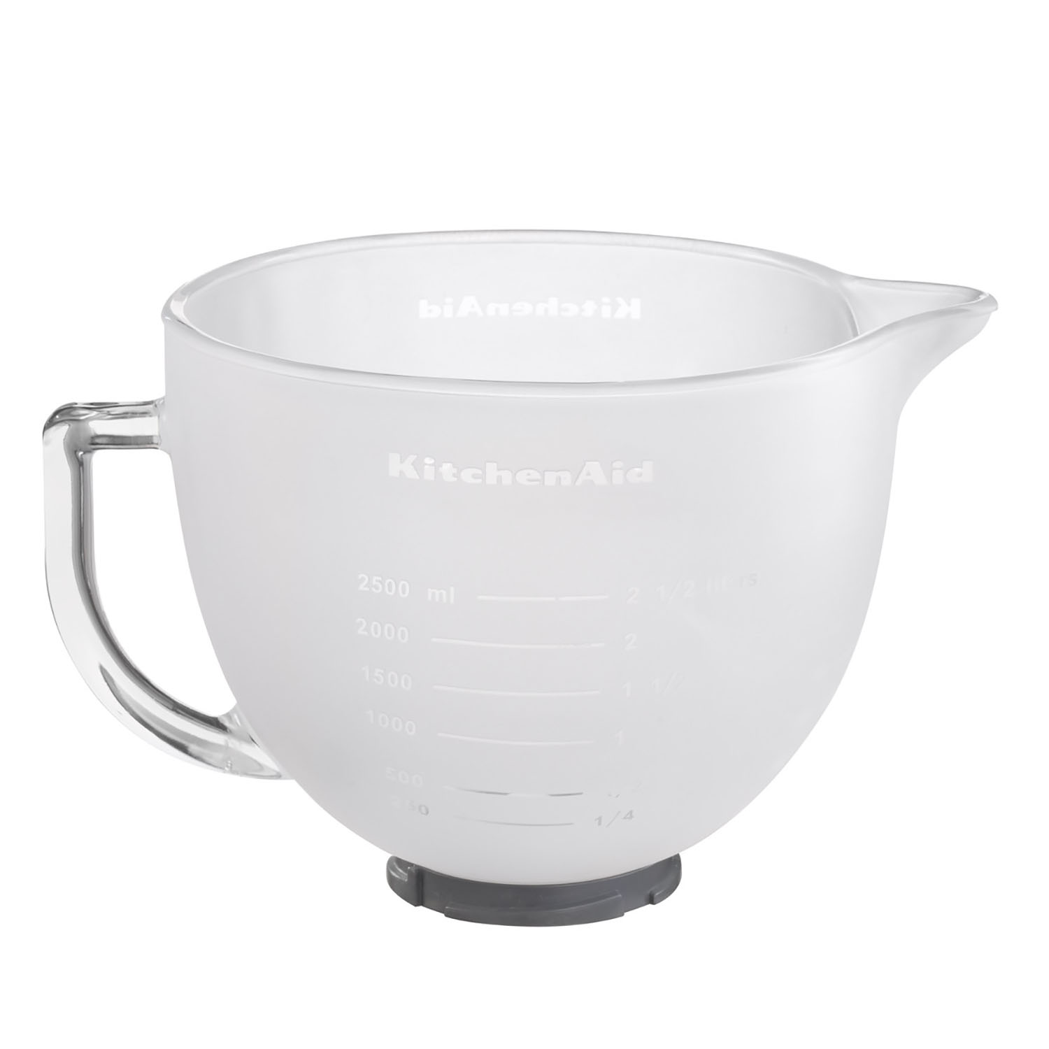 Kitchen Aid 5k5gbf 4.8l Frosted Glass Bowl, Frosted Glass