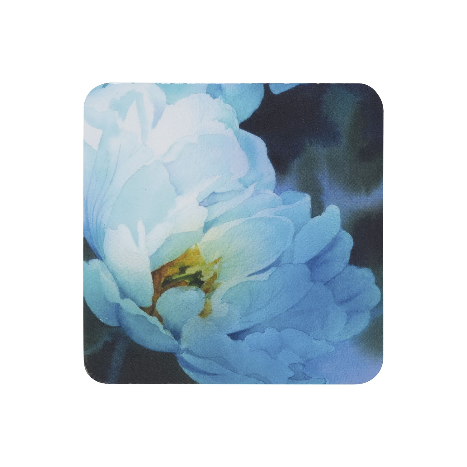 Image of Denby Coasters, Blue Floral, Set of 6