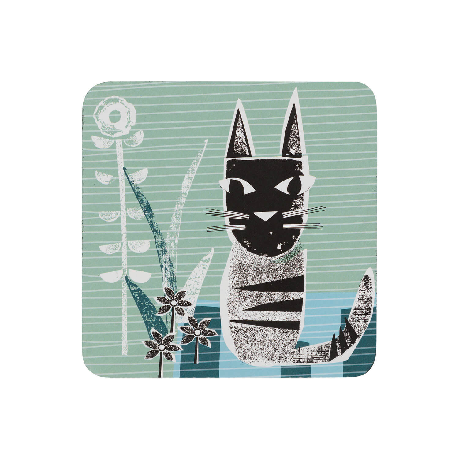 Image of Denby Coasters, Denby Cat, Set of 6