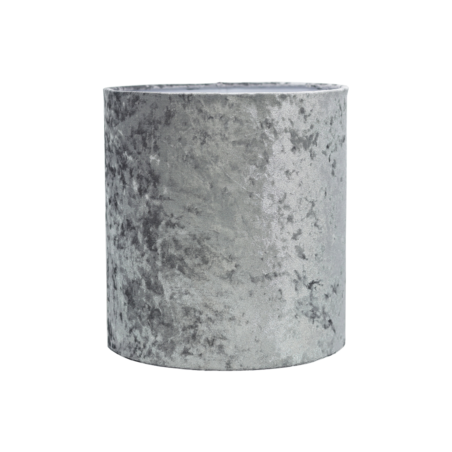 "10"" Cylinder Ceiling Lamp Shade, Silver"