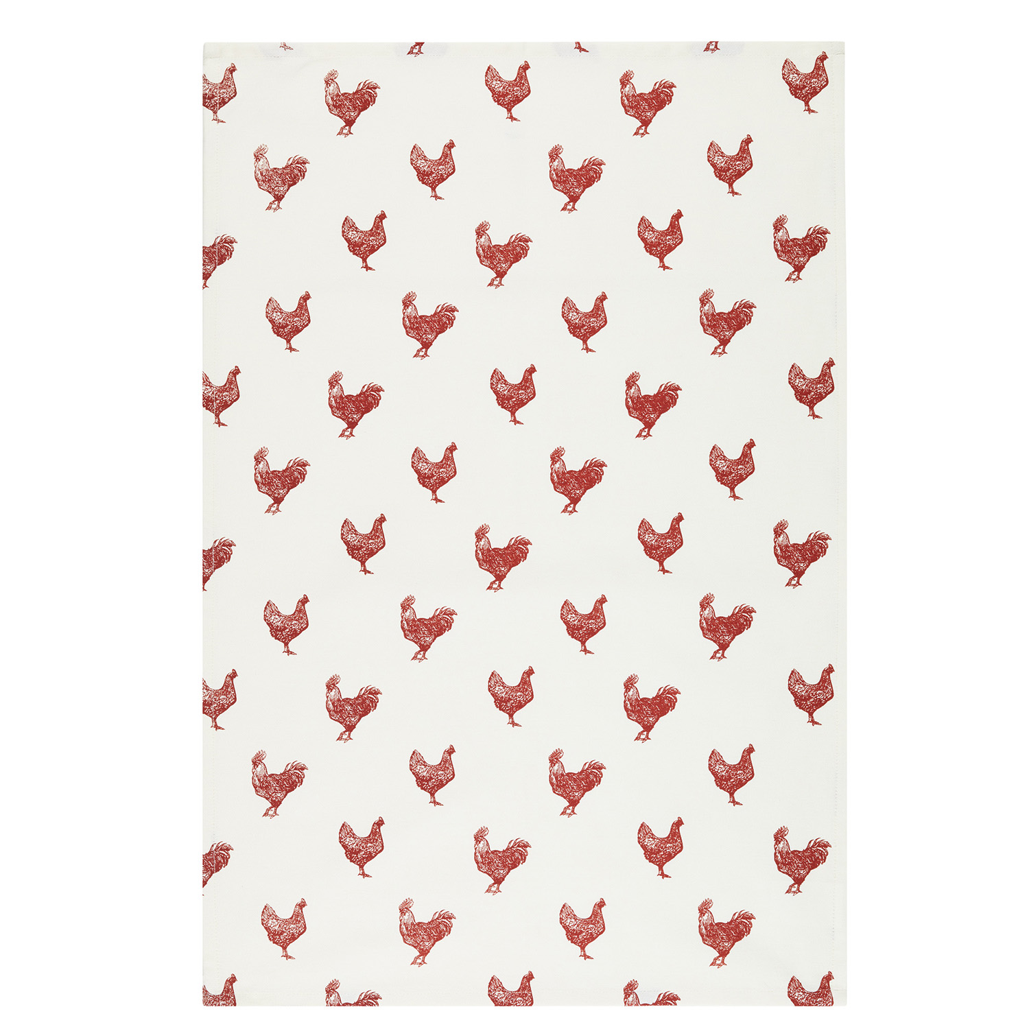 2 Pack Hen Tea Towels, Red