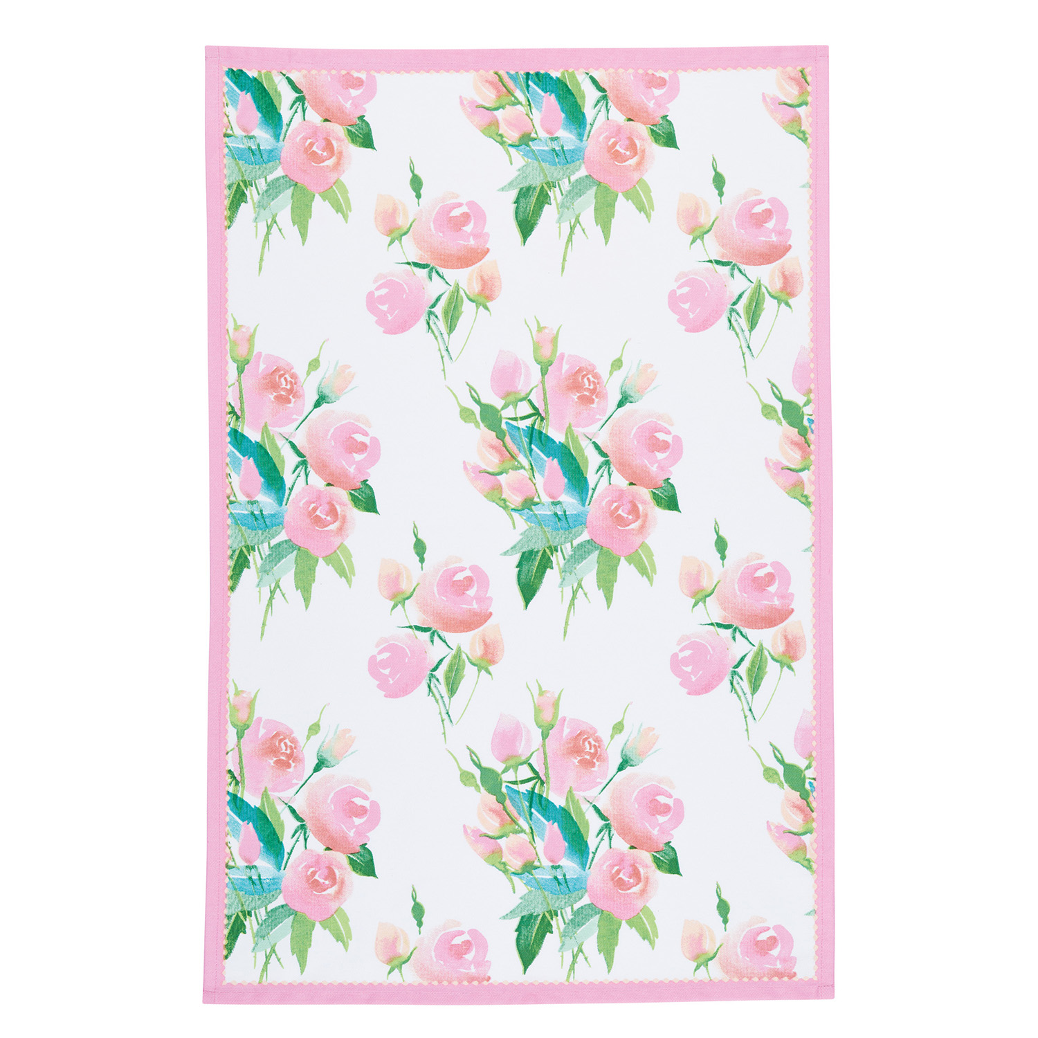 2 Pack Rose Tea Towels, Light Pink