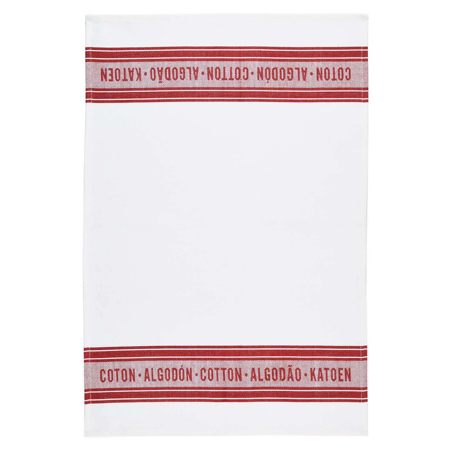 2 Pack Jacquard Red Tea Towels