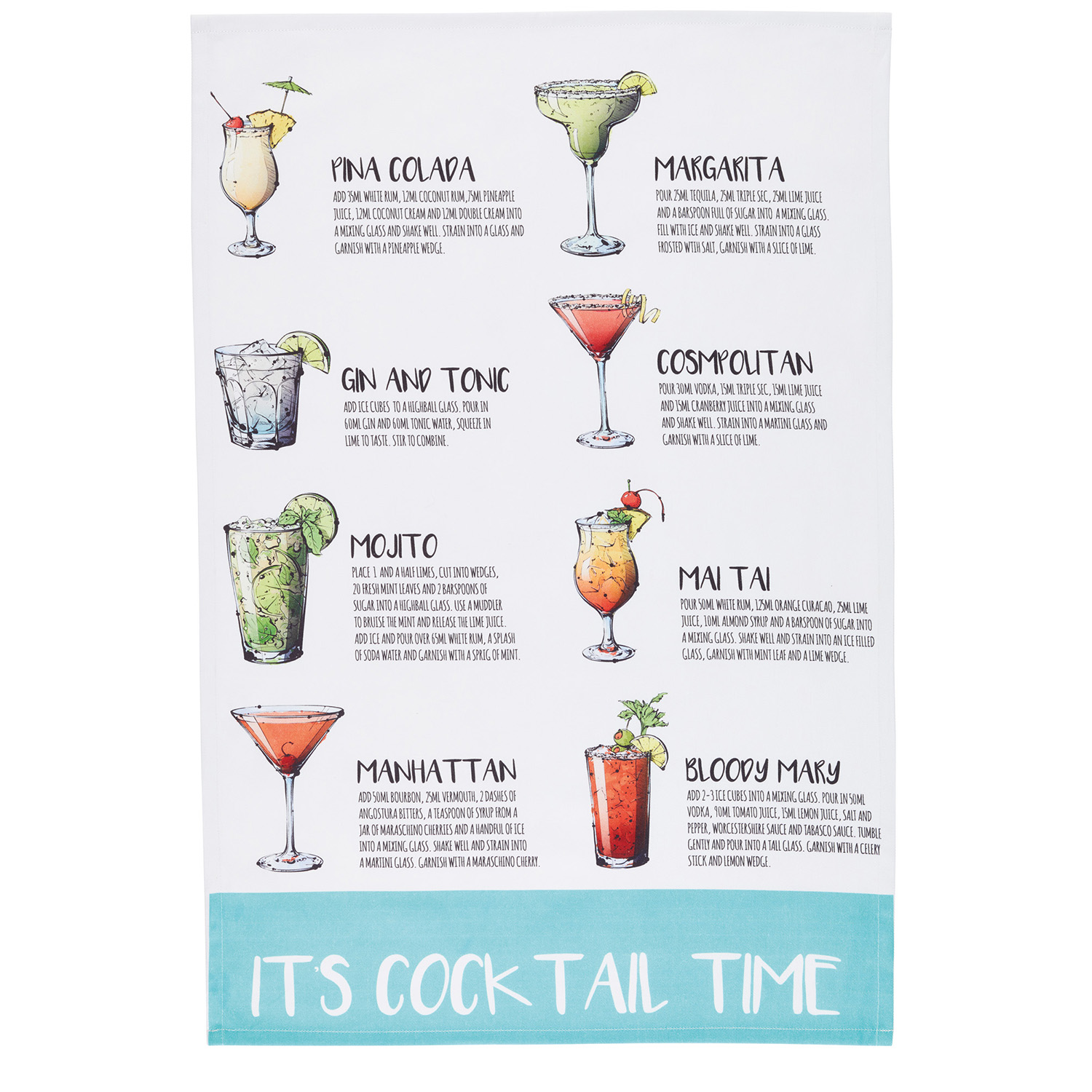 Image of 2 Pack Cocktail Tea Towels