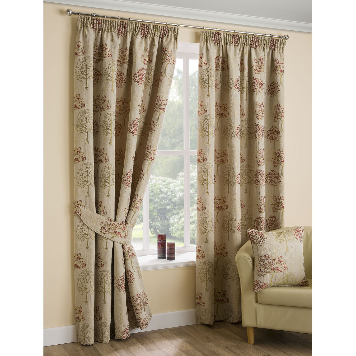 Image of Belfield Design Studio Arden Curtains, 117x137cm, Chintz