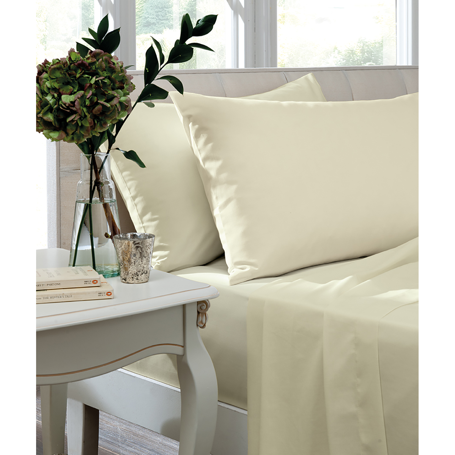 Image of Turner Bianca Housewife Pillowcase Pair, Ivory