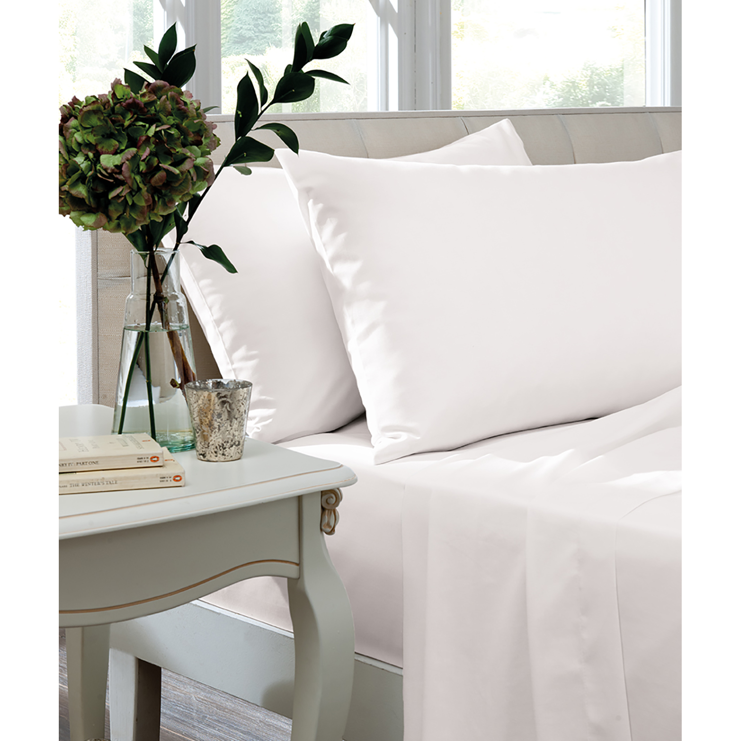 Image of Turner Bianca Fitted Sheet Superking, White