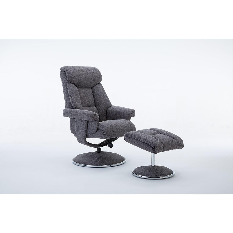 Image of Casa Bayonne Fabric Chair & Footstool