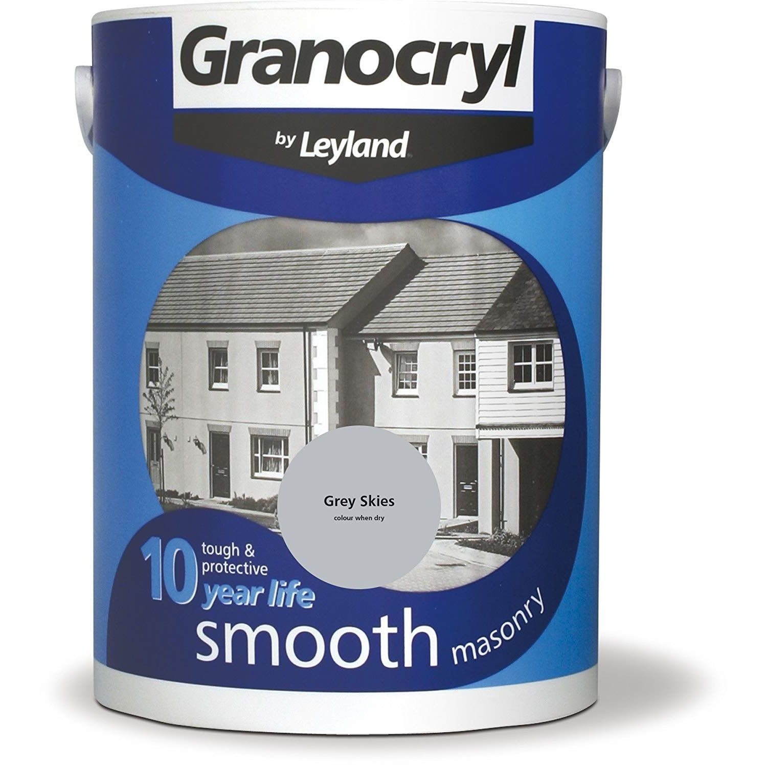 Image of Granocryl 5L Smooth Masonary Paint, Grey Skies
