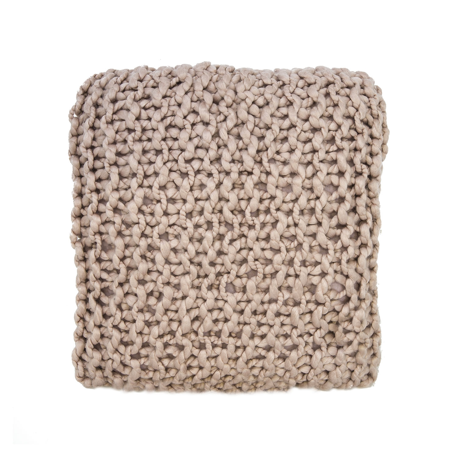 Image of Casa Basket Weave Knit Cushion, Pink