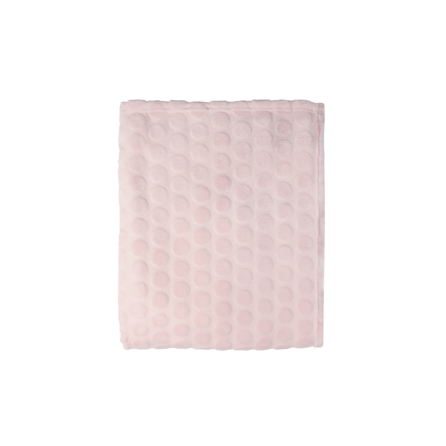Image of Mistral Soft Dots Flannel Throw, Pink