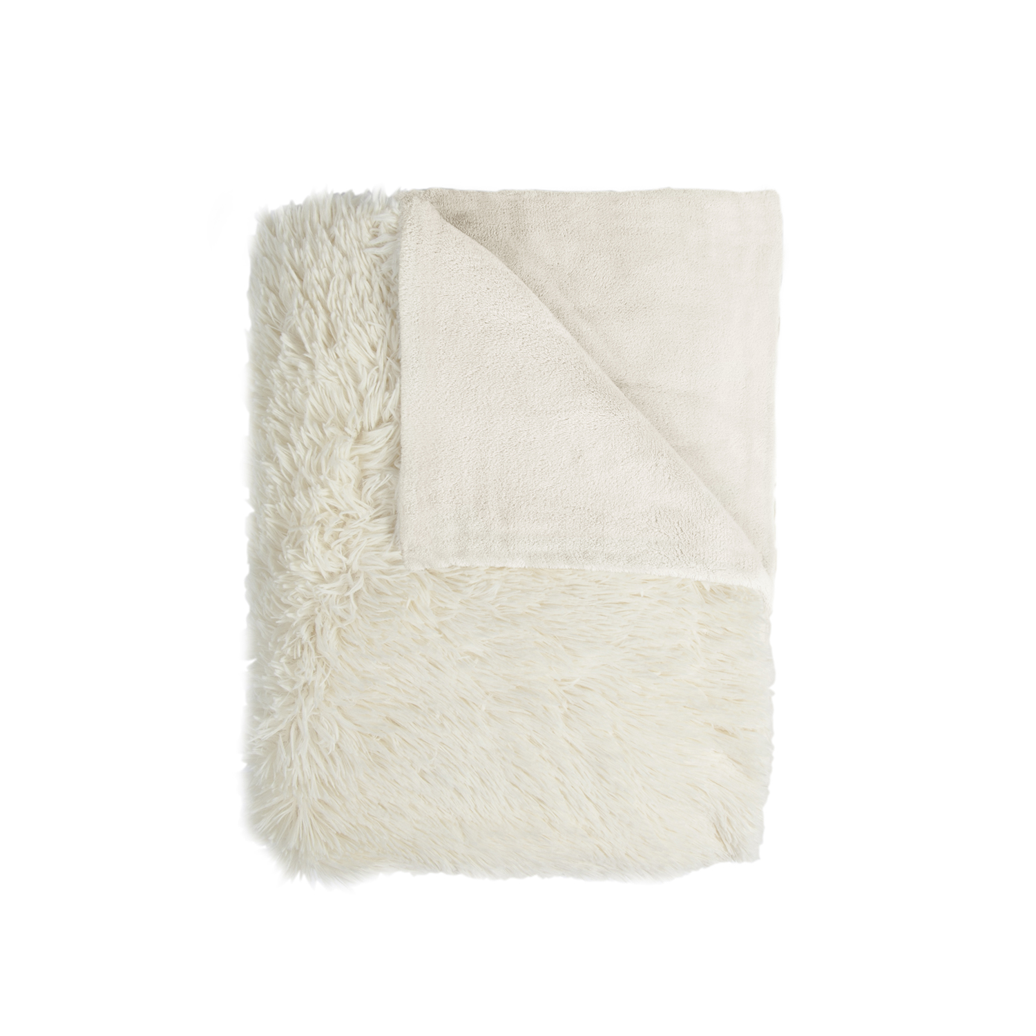 Image of Mistral Shaggy Fuzzy Throw, Beige