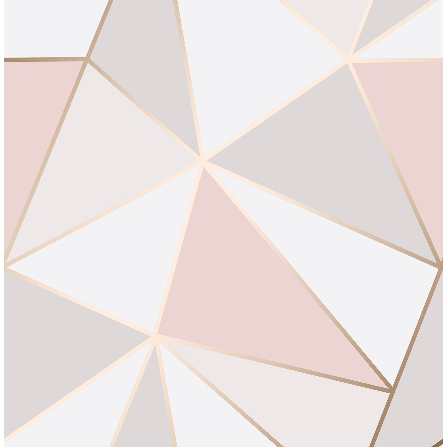 Image of Fine Decor Apex Geo Sidewall Wallpaper, Rose Gold