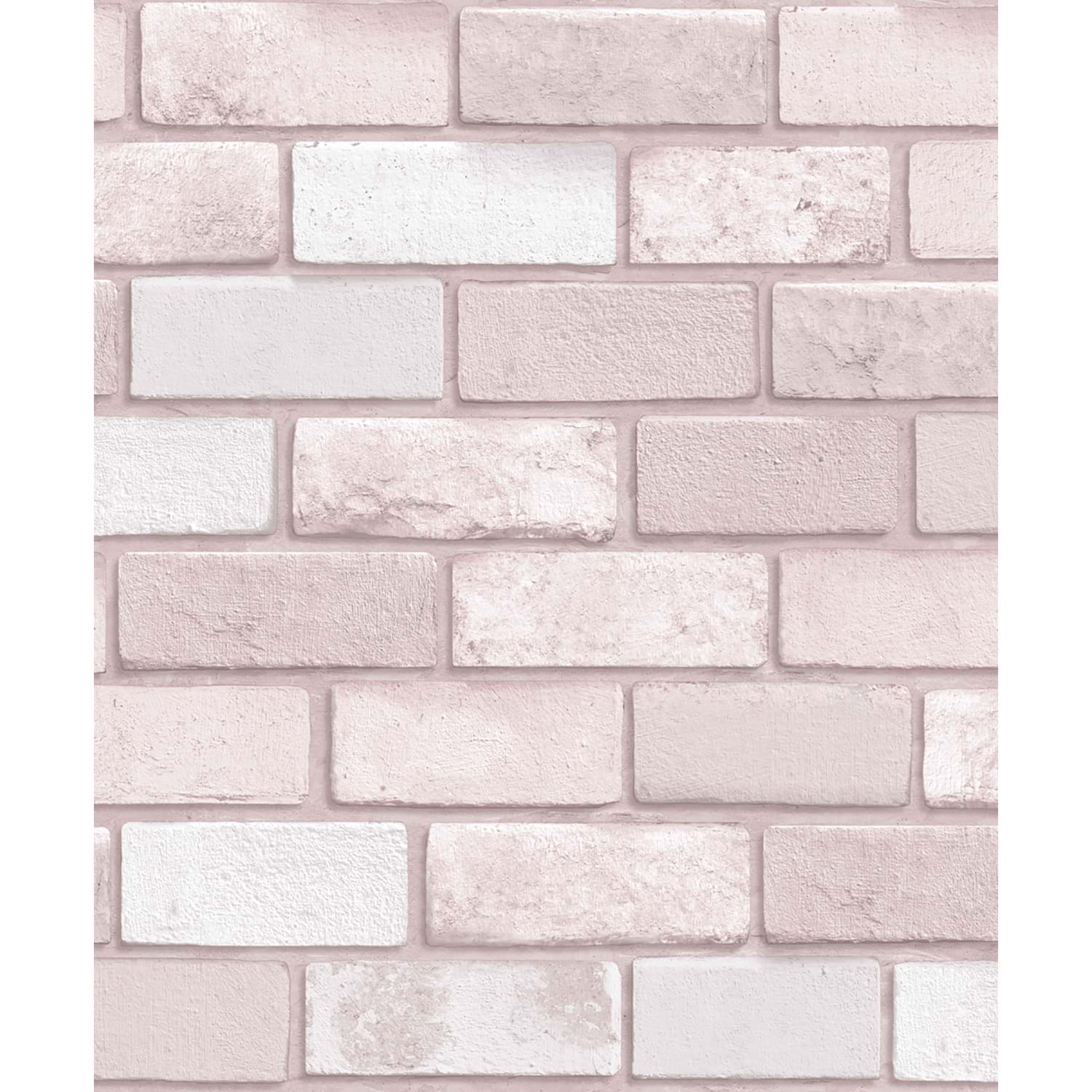 Image of Arthouse Diamond Brick Wallpaper, Pink