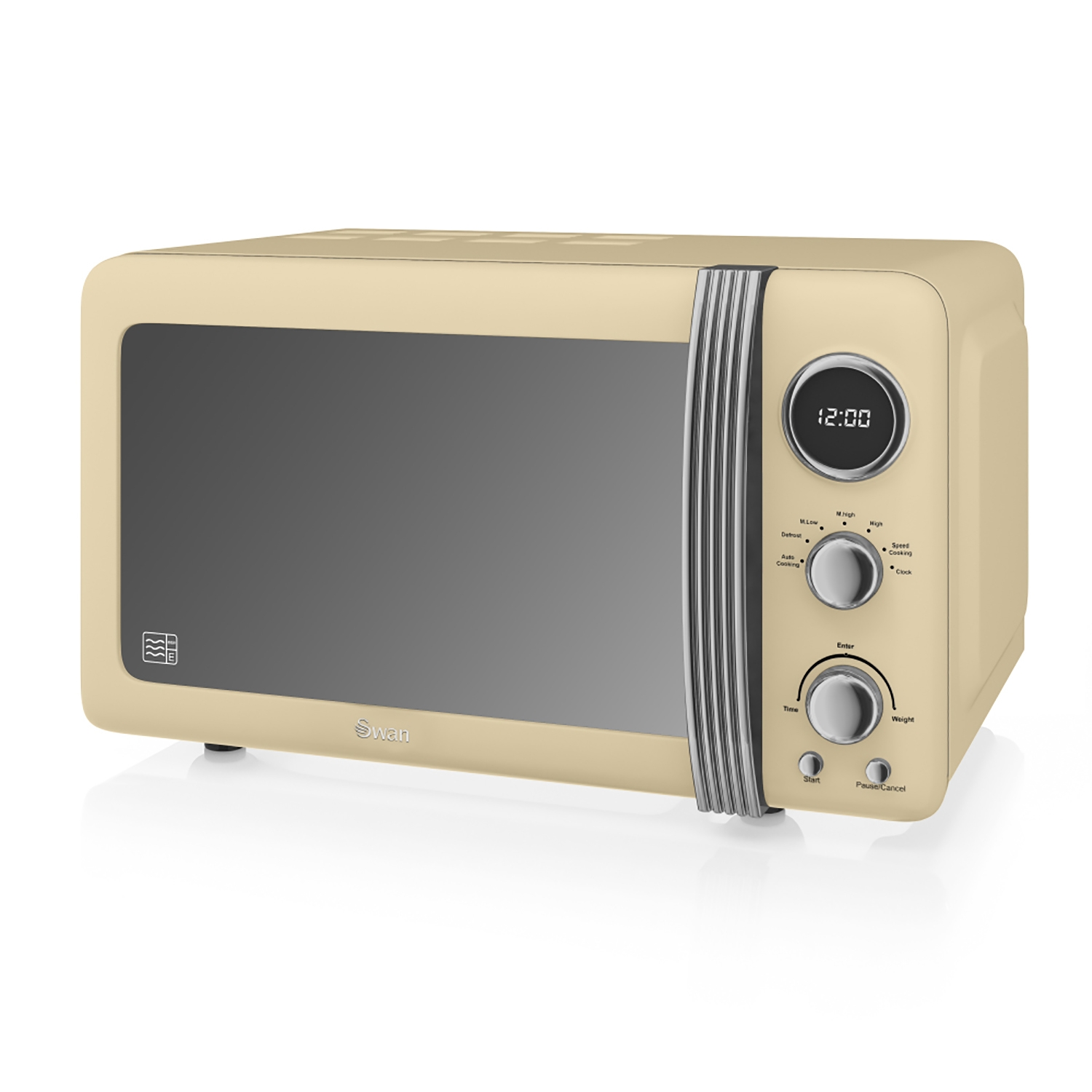Image of Swan Retro Digital Microwave 20 Litre, Cream