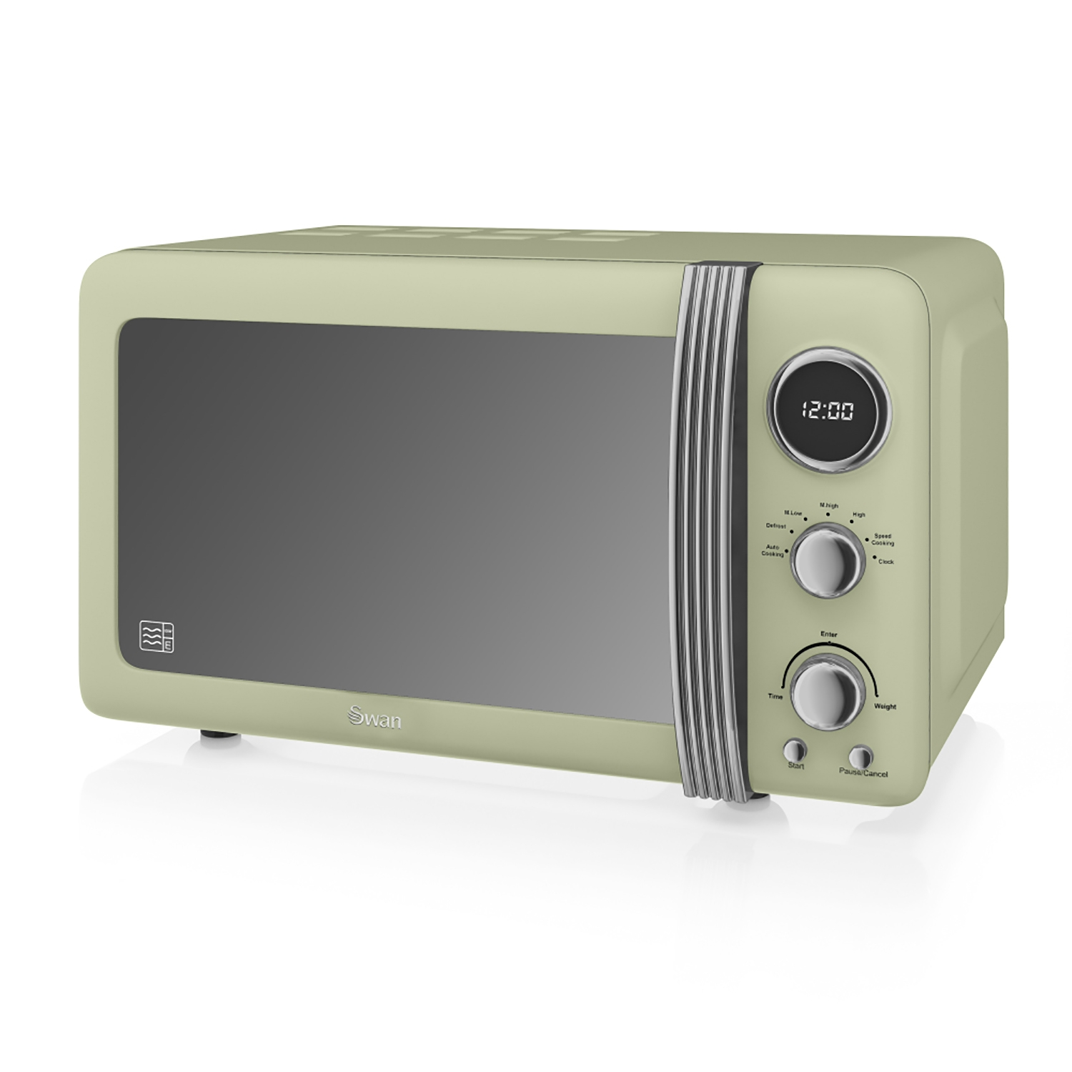 Image of Swan Retro Digital Microwave 20 Litre, Green