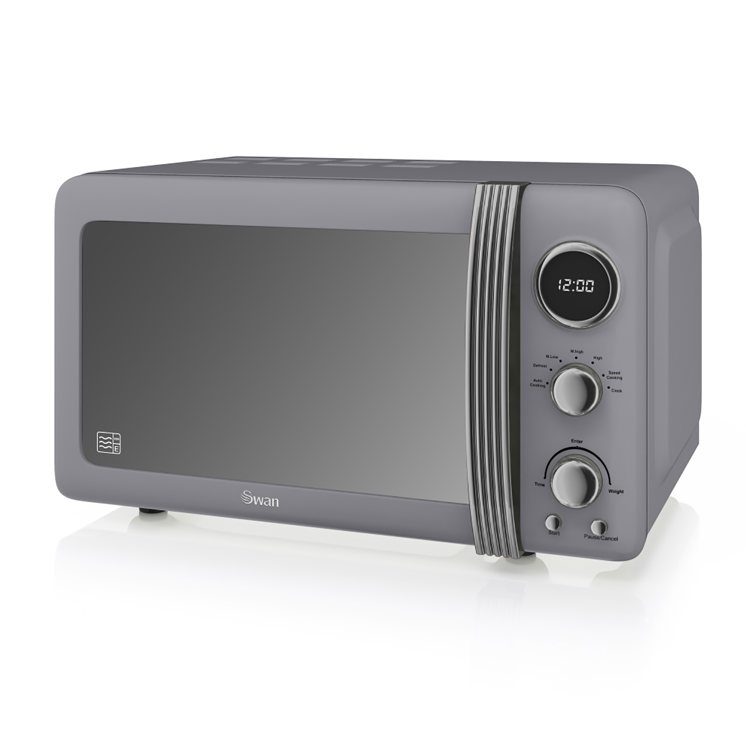 Image of Swan Retro Digital Microwave 20 Litre, Grey
