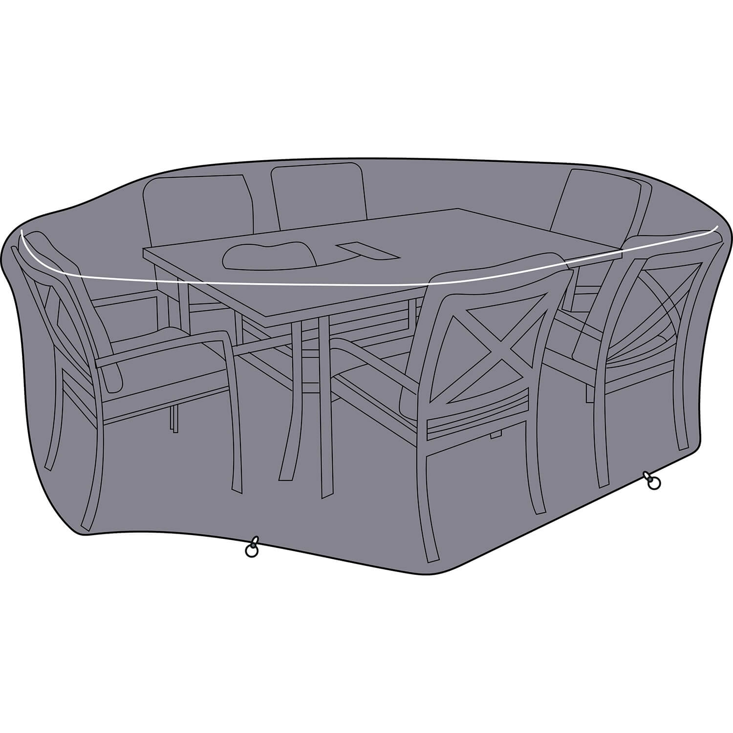 Image of Jamie Oliver 6 Seater Feastable Outdoor Cover