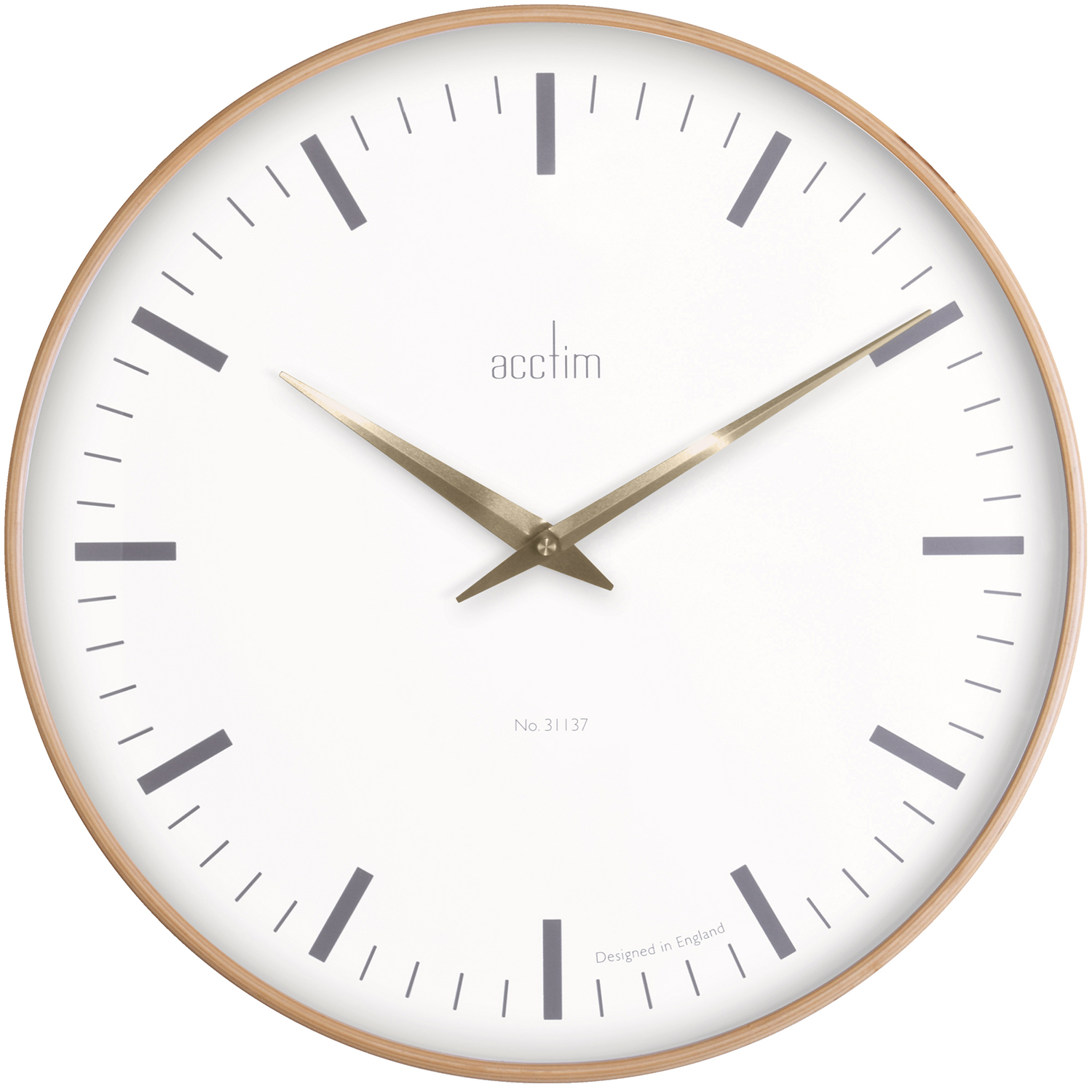 Acctim Bonde Wall Clock, Extra Large, Natural Wood