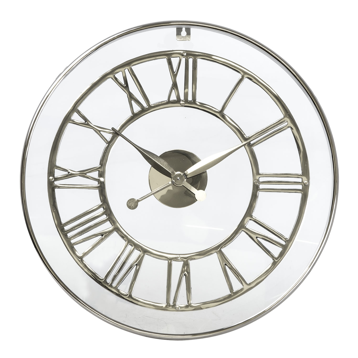 Image of Casa Bromley Wall Clock, 62cm, Nickel
