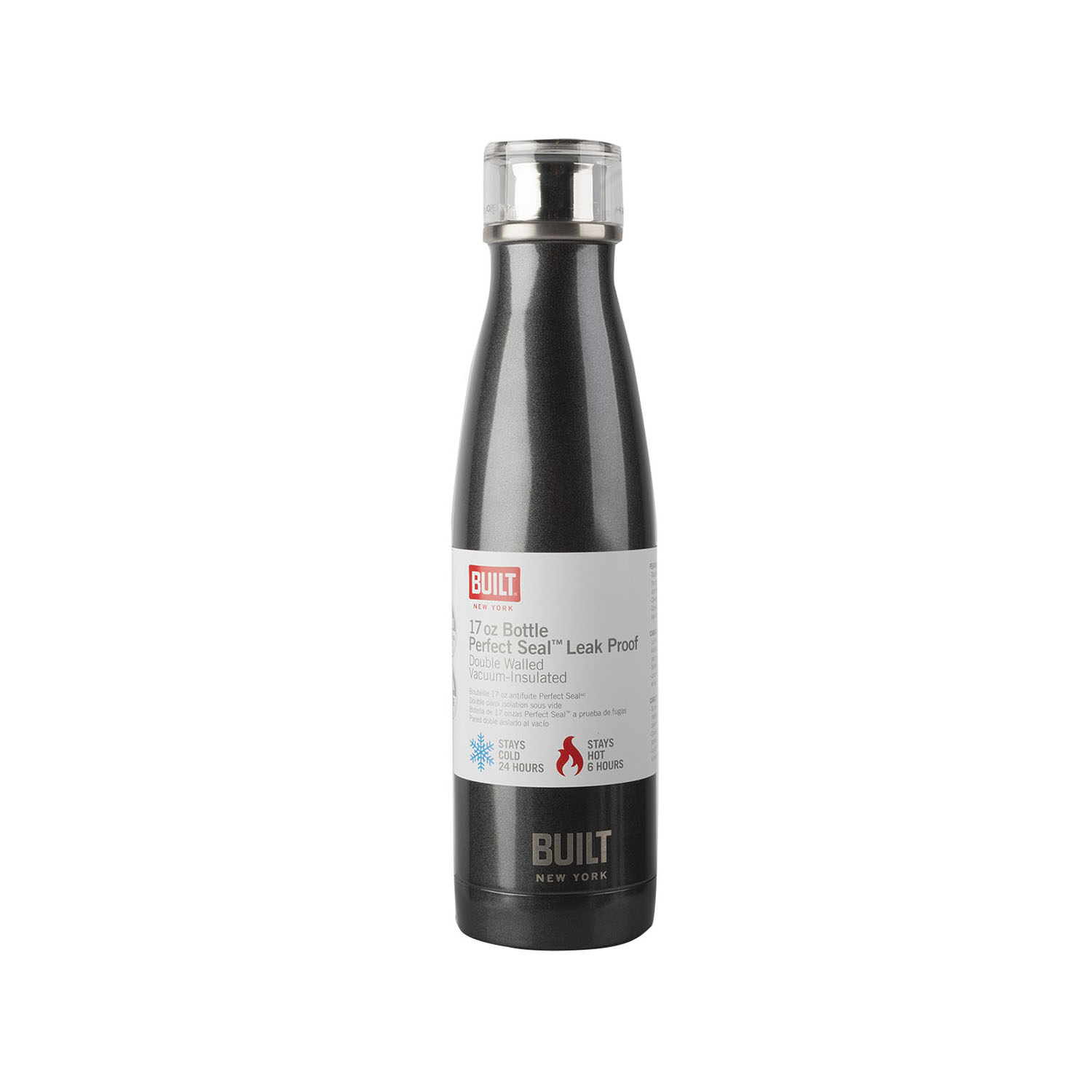 Image of Built Bottle 483ml, Charcoal Grey