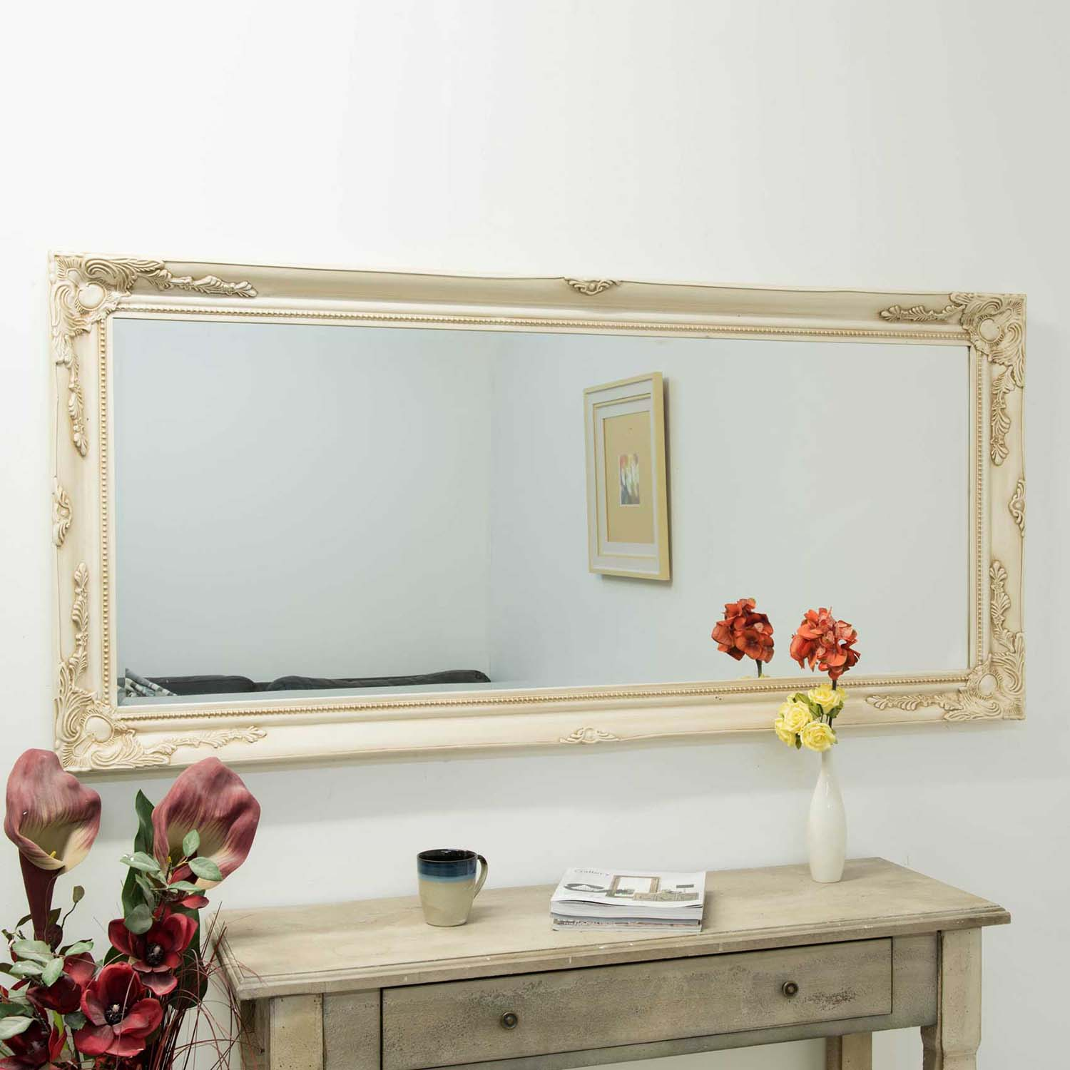 Image of Mirror Outlet Buxton Ivory Mirror