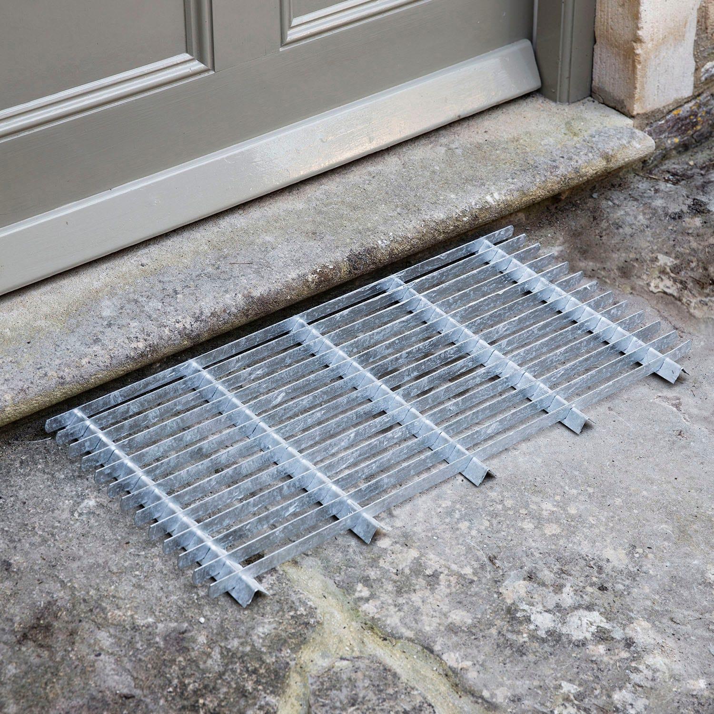 Image of Garden Trading Doormat, Large, Galvanised Steel
